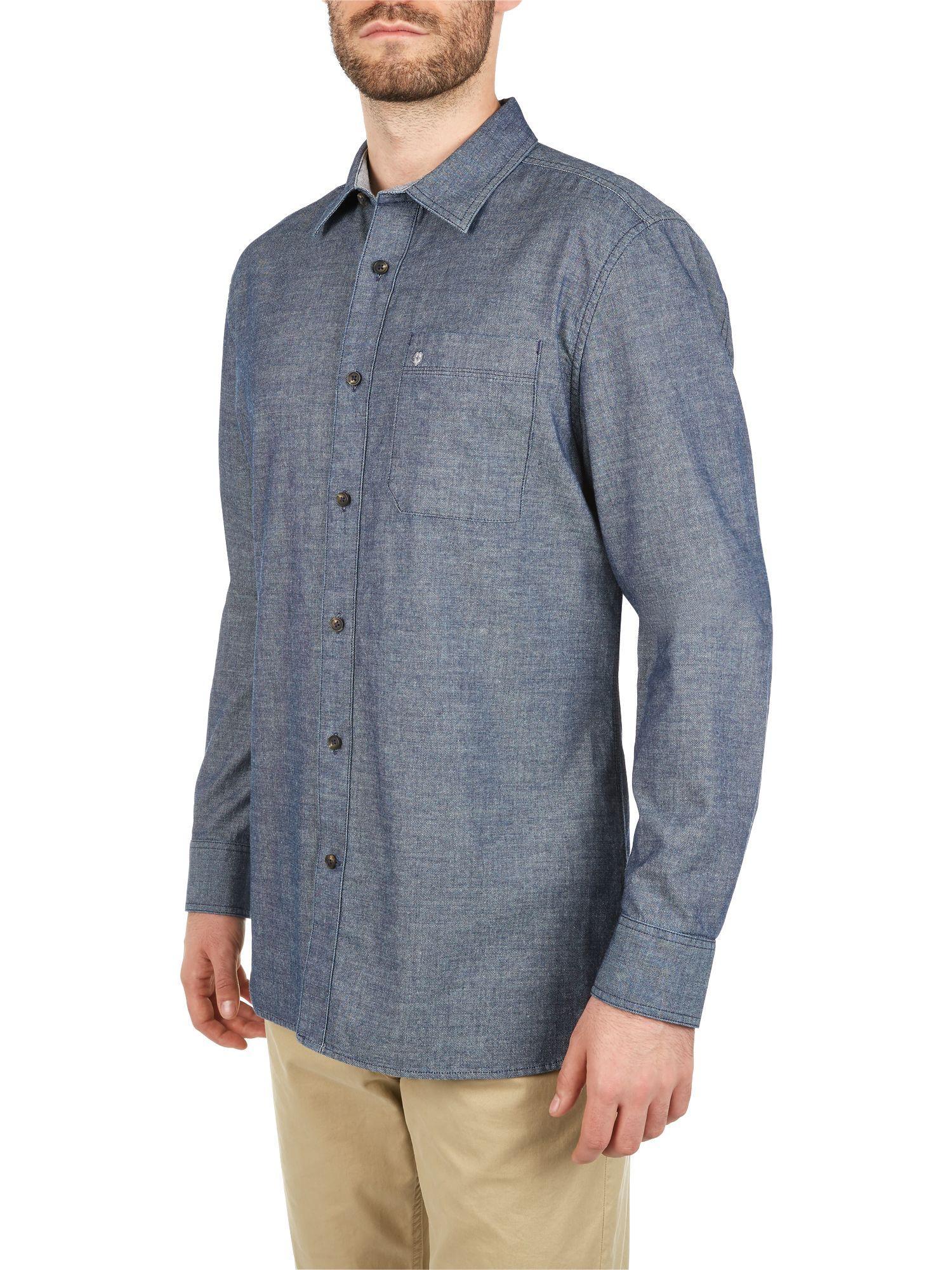 Victorinox Cotton Indigo Dobby L/s Shirt in Blue for Men