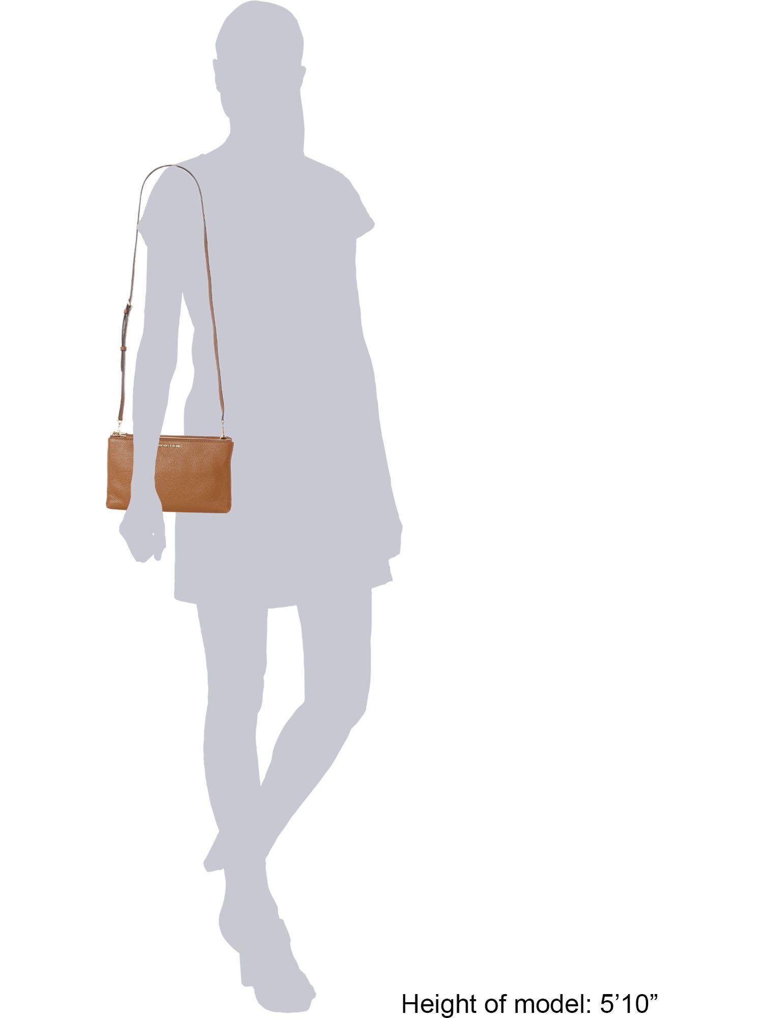 Michael Kors Leather Adele Crossbody Bag