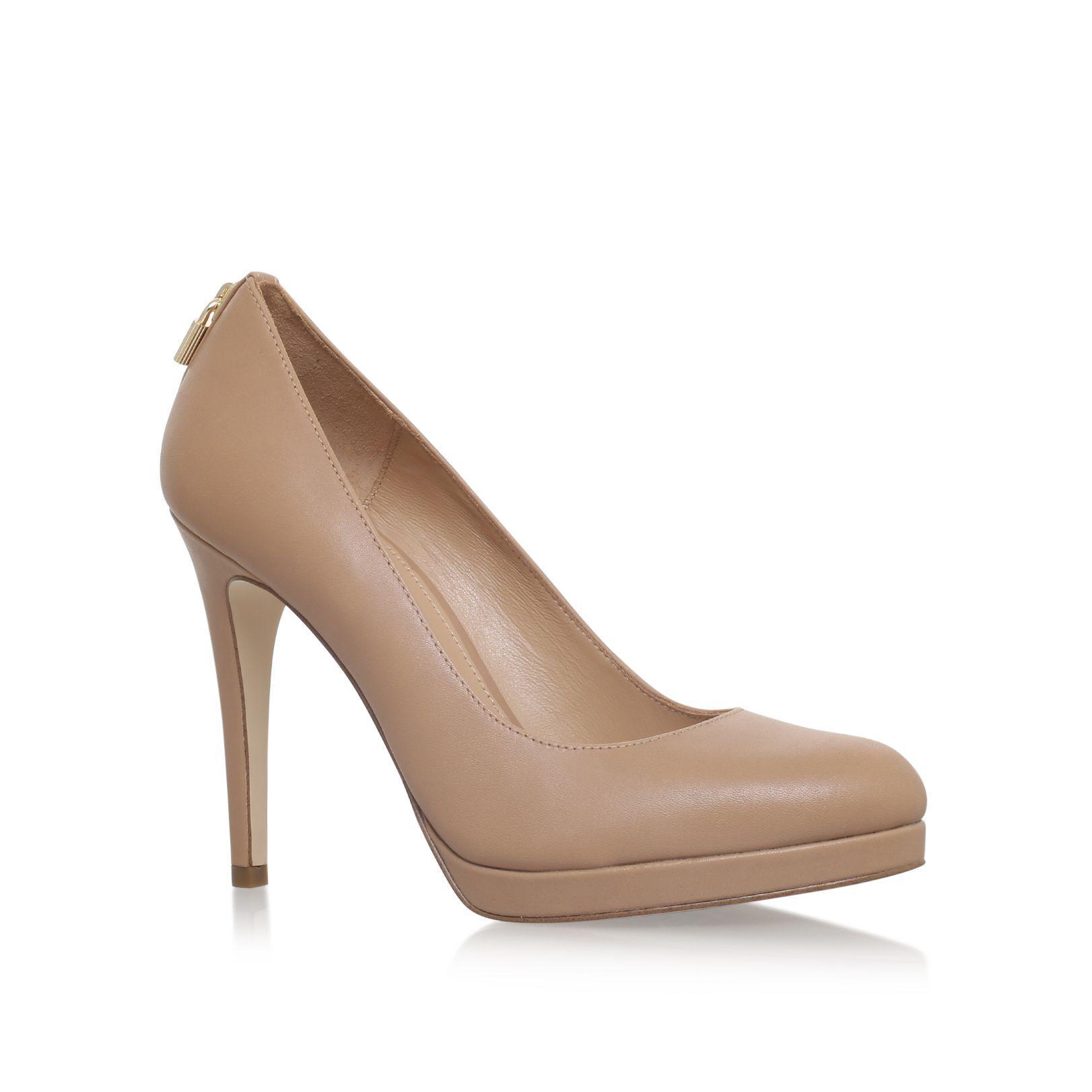 michael kors antionette pump court shoes in natural lyst. Black Bedroom Furniture Sets. Home Design Ideas