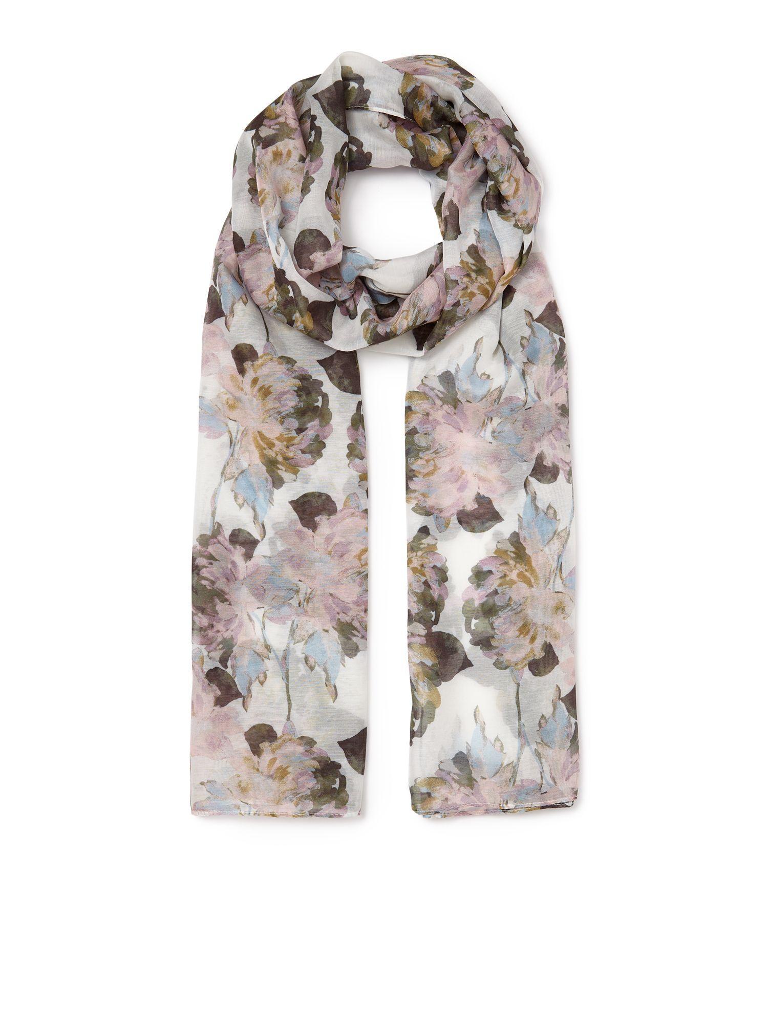 eastex painted peony scarf lyst