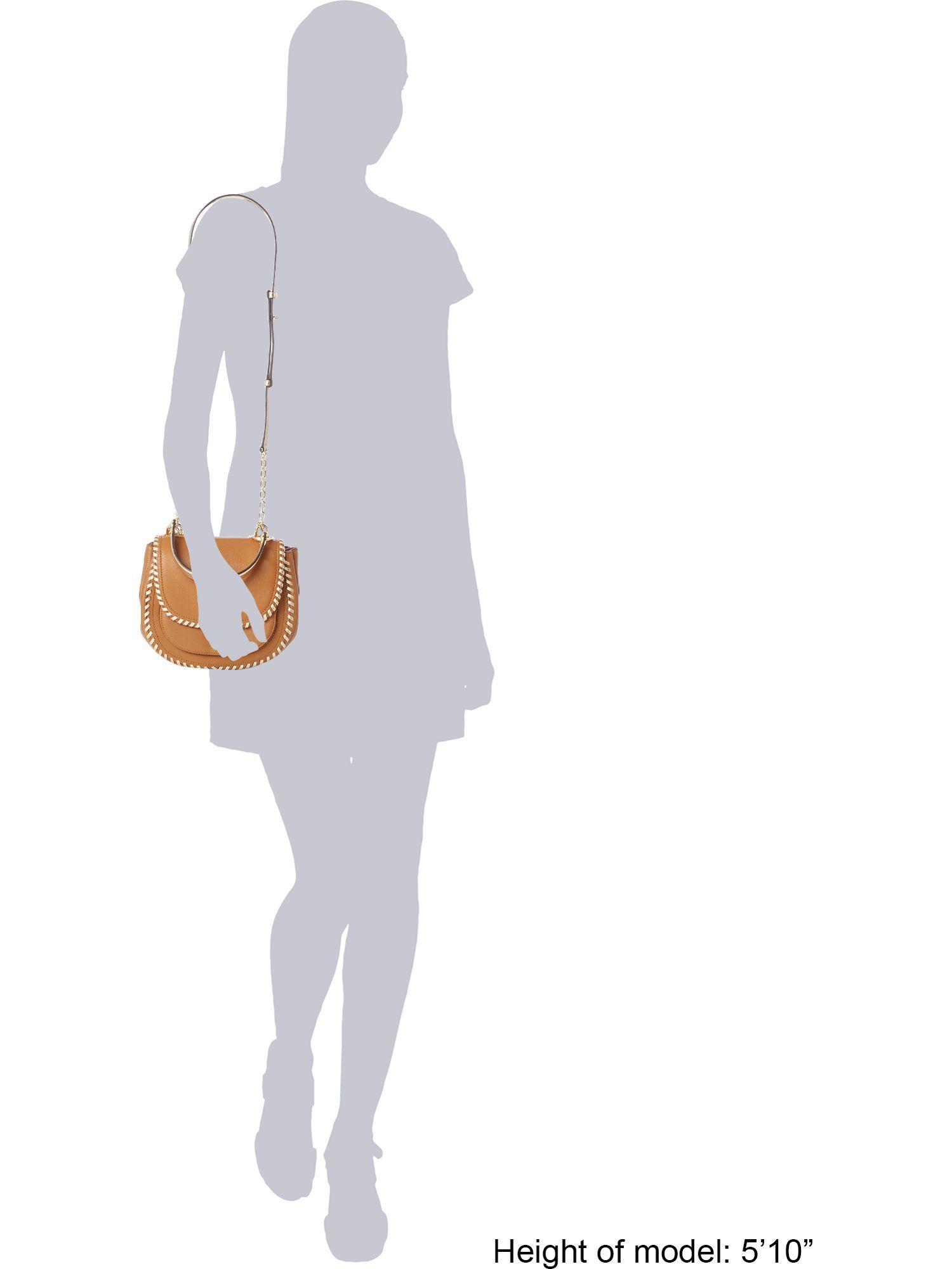 Michael Kors Leather Isadore Medium Crossbody Bag in Tan (Brown)