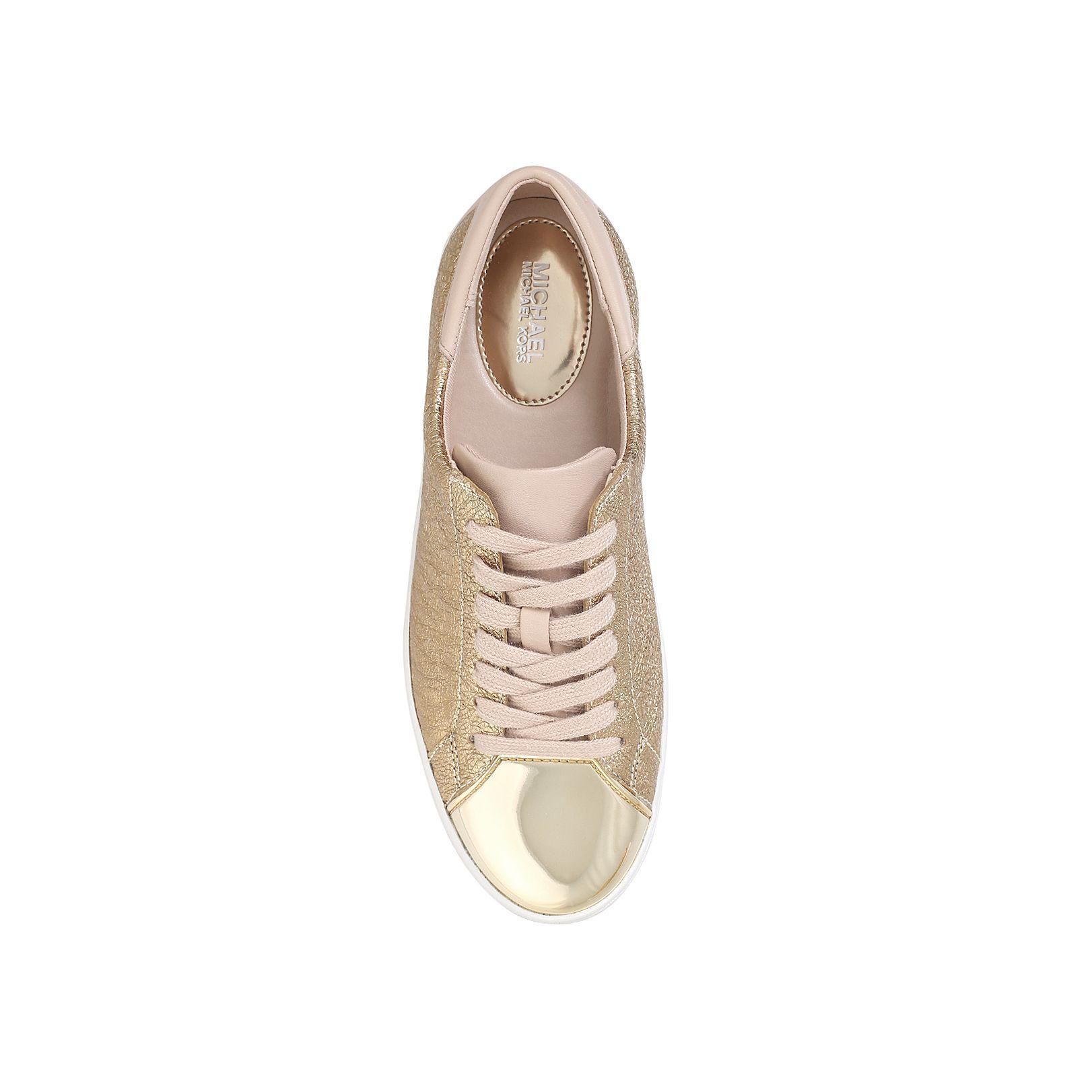 Michael Kors Leather Frankie Sneakers in Gold (Metallic)