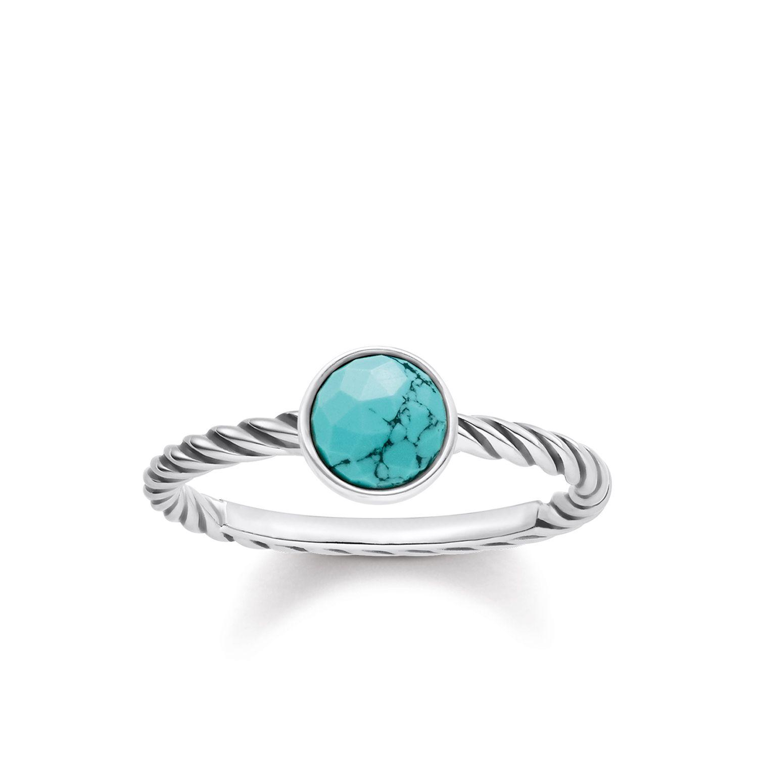 thomas sabo turquoise ring in metallic lyst. Black Bedroom Furniture Sets. Home Design Ideas