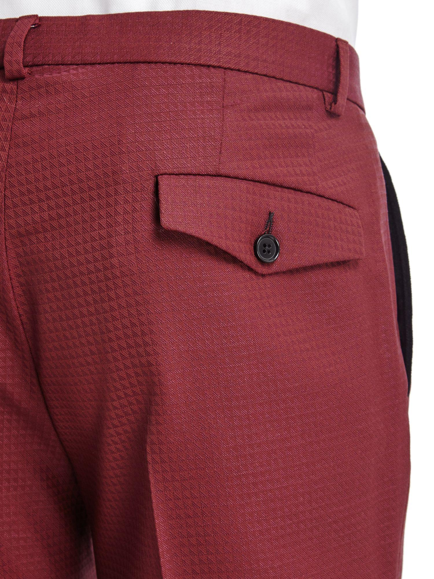 Noose And Monkey Wool Titan Suit Trousers in Burgundy (Red) for Men
