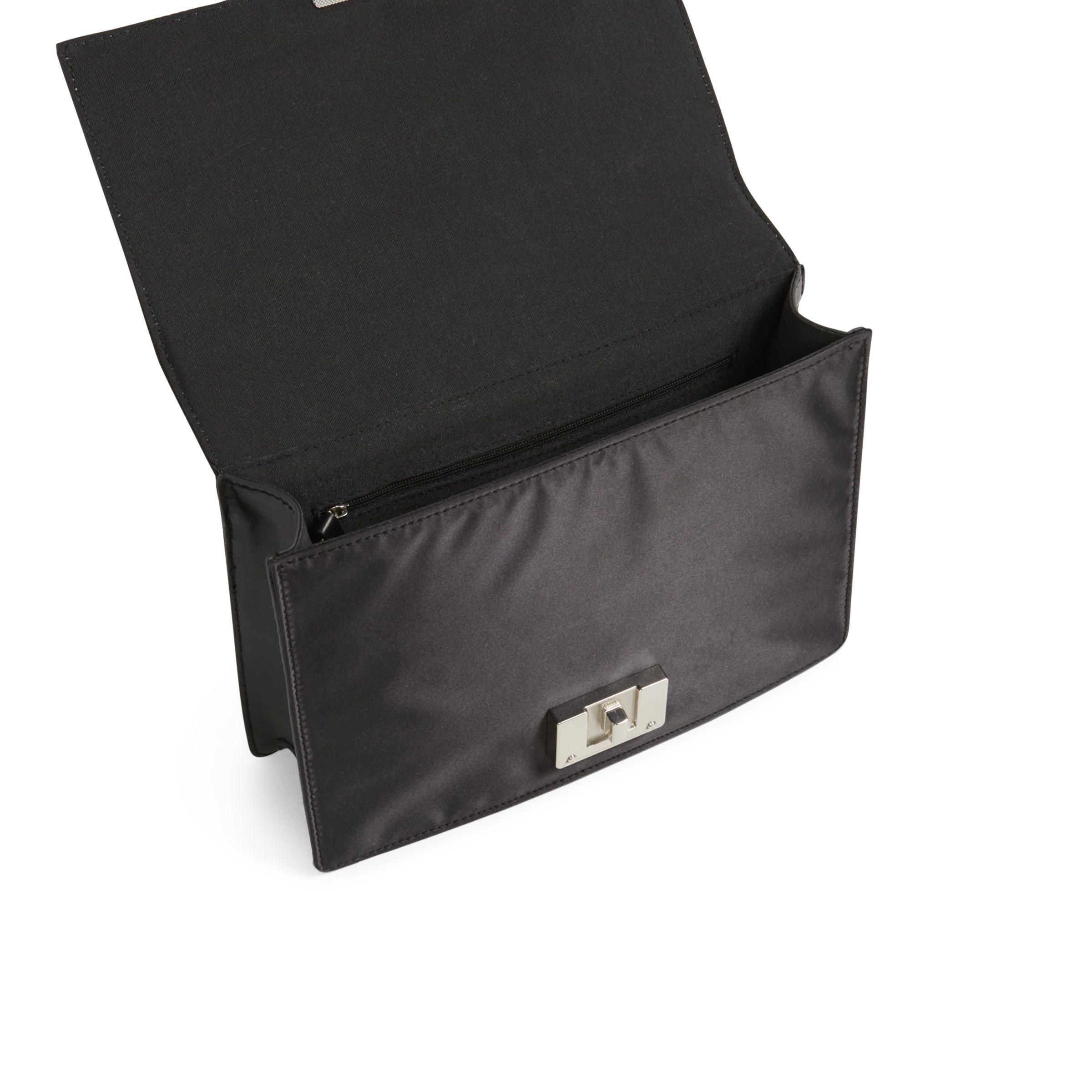 ALDO Satin Hiari Cross-body Bag in Black