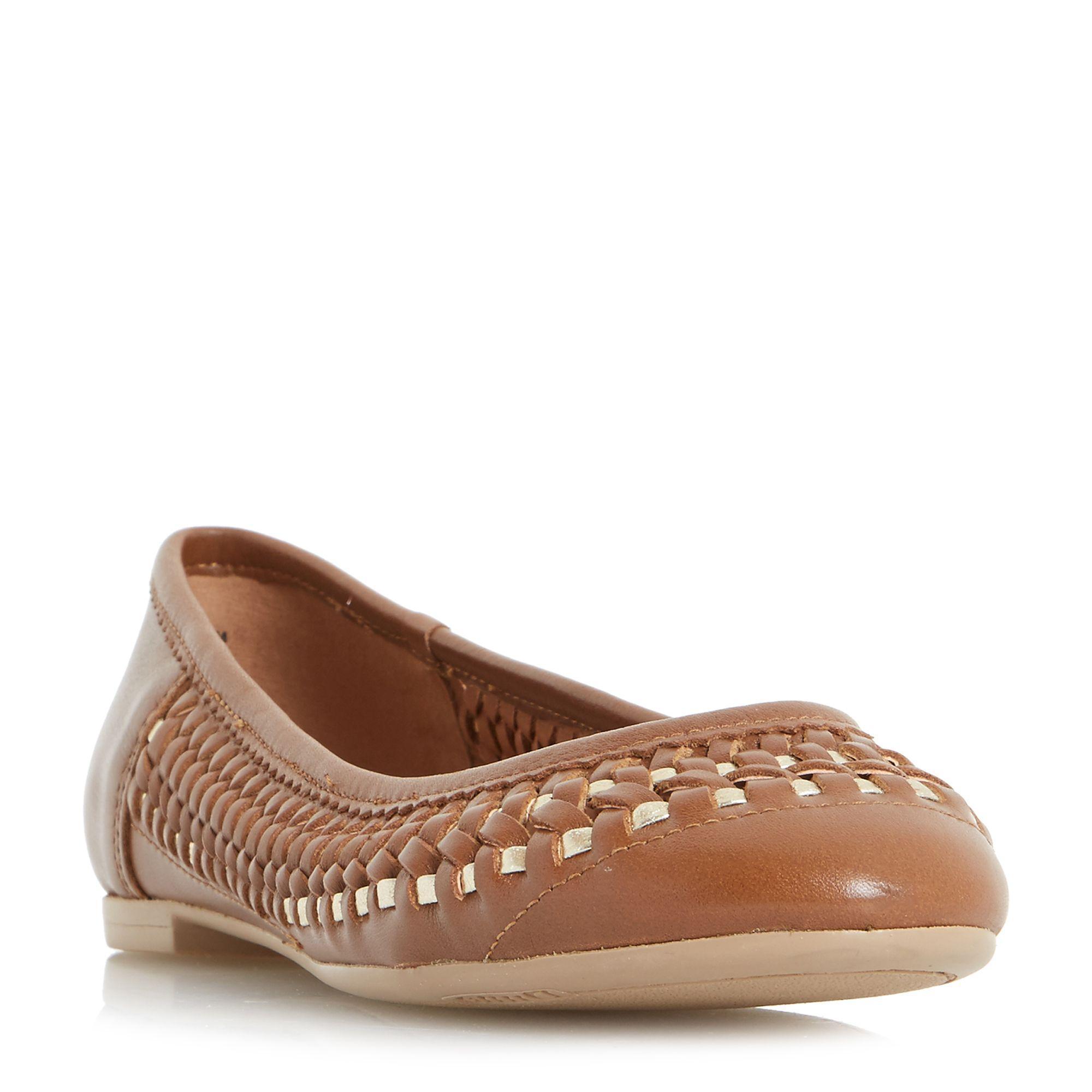 Tan Women Flat Shoes