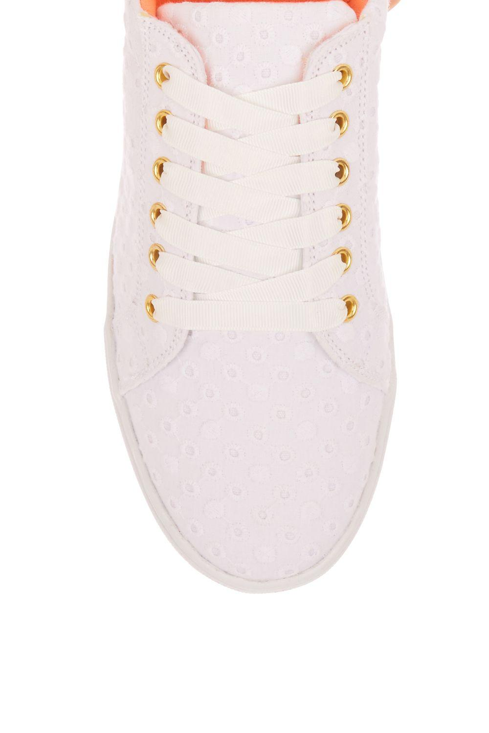 Oasis Elsa Embroidered Spot Trainer in White