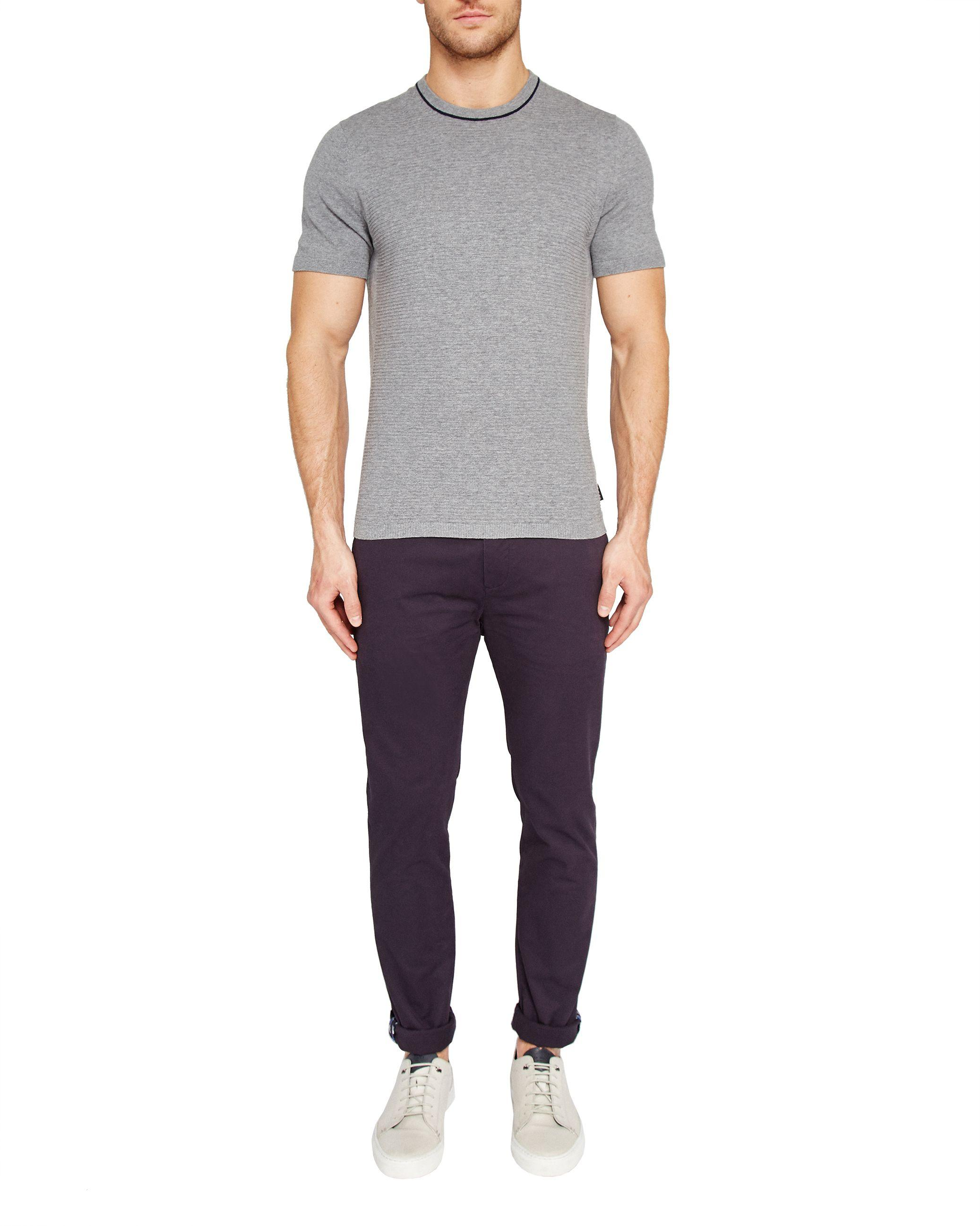 Ted Baker Cotton Tapcor Tapered Fit Chino in Navy (Blue) for Men