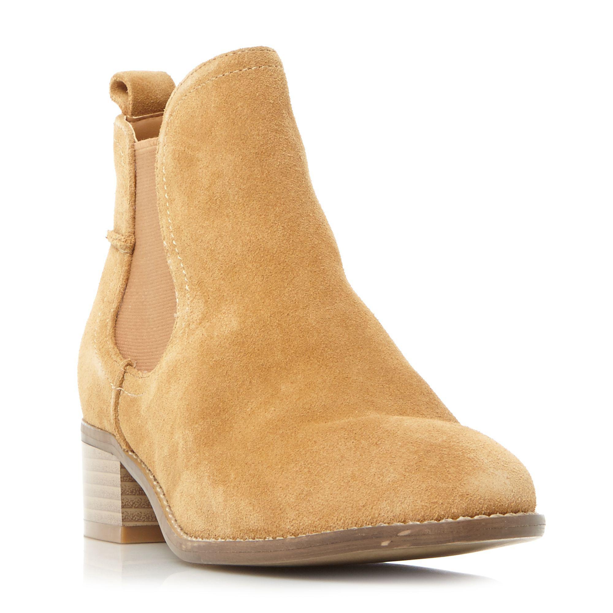Steve Madden Suede 'dicey' Block Heel Chelsea Boots