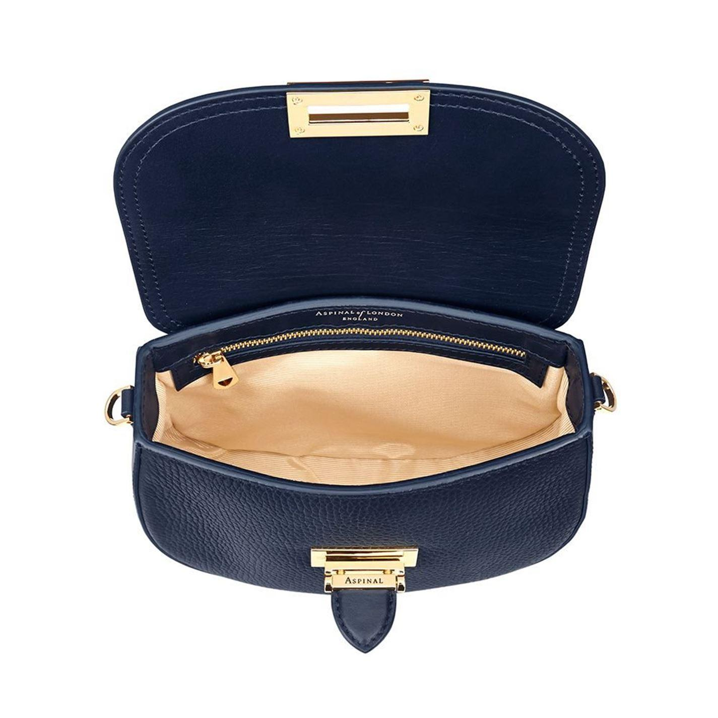 Aspinal of London Leather Ladies Portobello Bag in Navy (Blue)