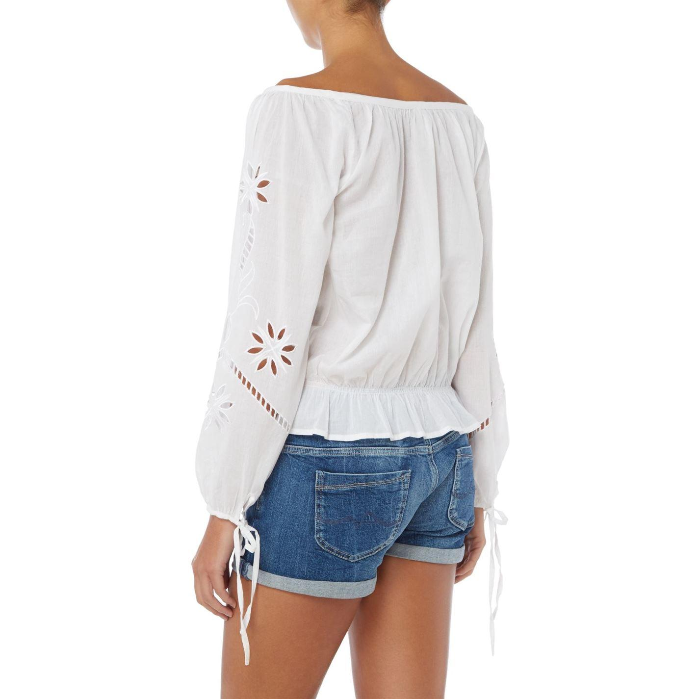 Pepe Jeans Denim Jasmine Shirt in White