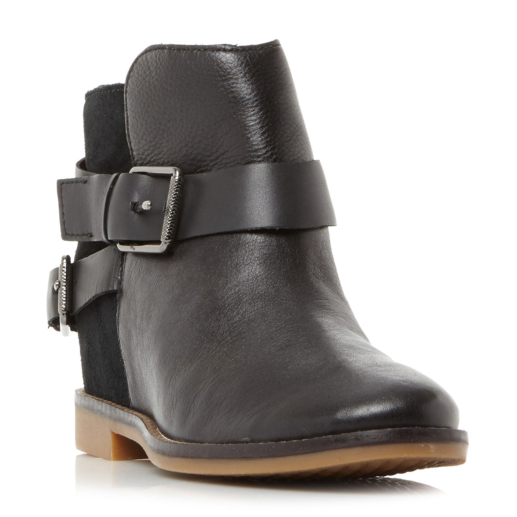 3ac56ab525ea Hush Puppies Baubie Felise Strap Detail Ankle Boots in Black - Save ...
