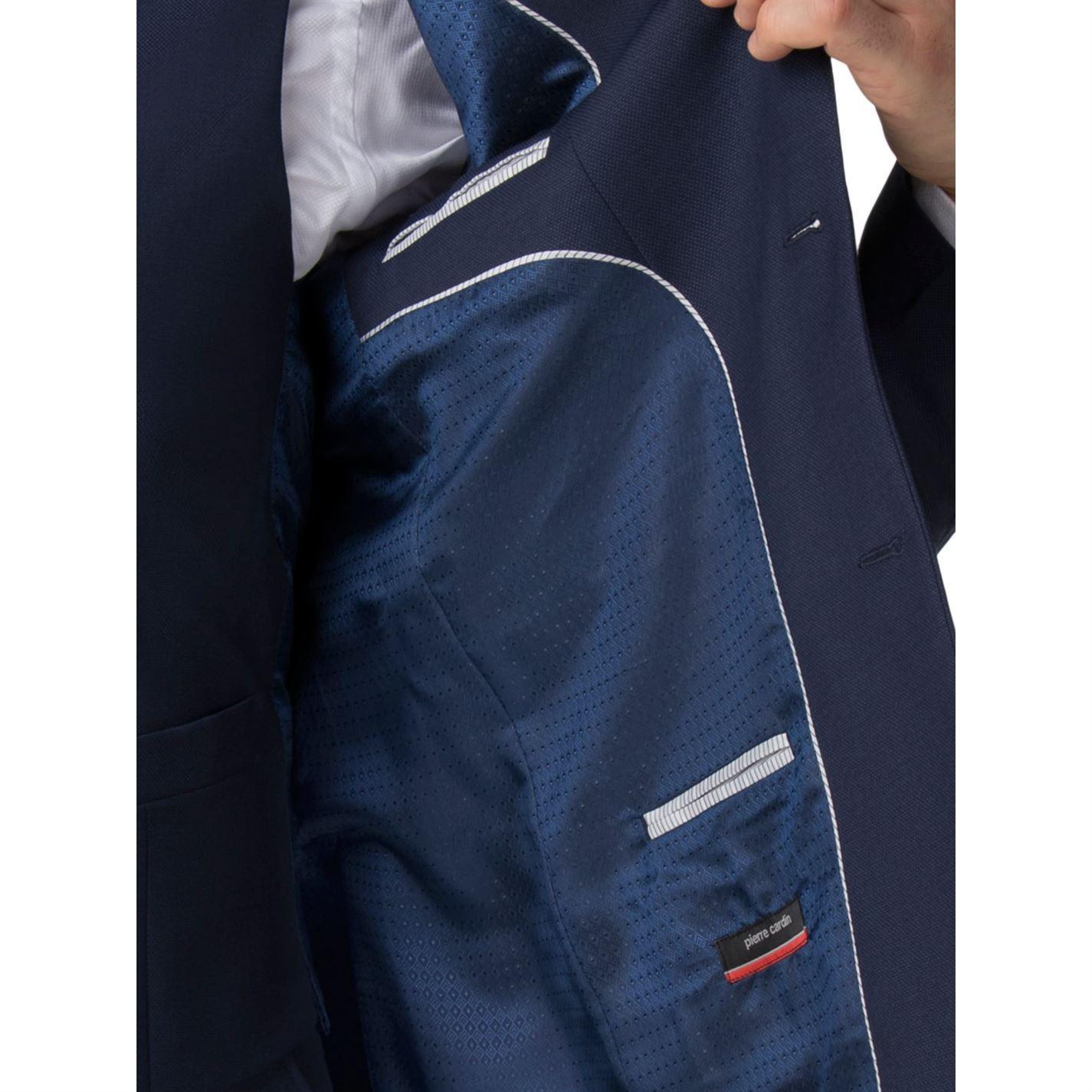 Pierre Cardin Wool Edmund Blue Textured Jacket for Men