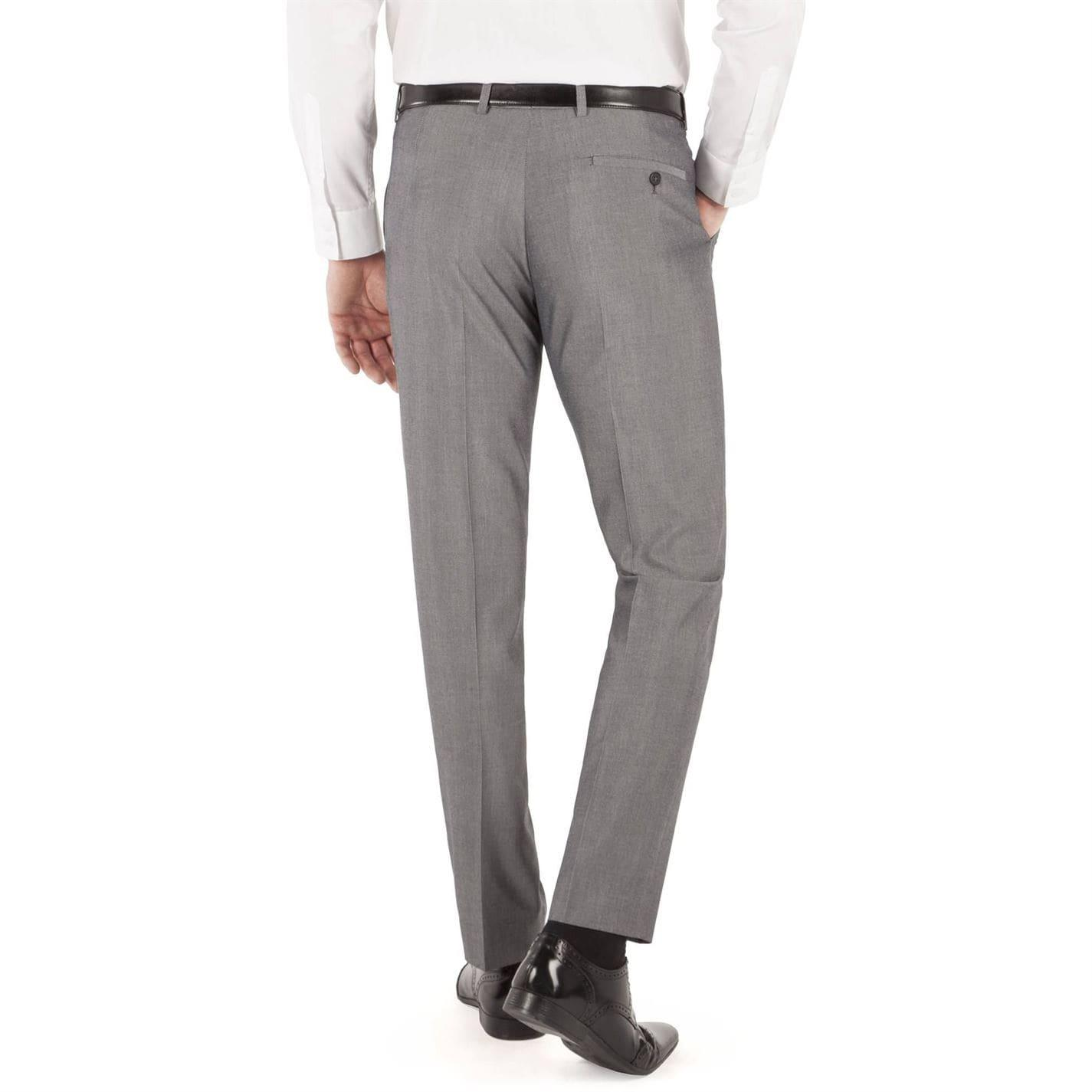 Limehaus Synthetic Stevenson Tonic Slim Fit Trousers in Grey (Grey) for Men