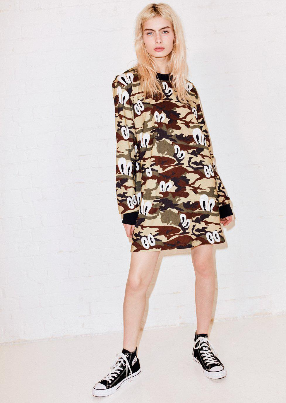 512dc0a52d2c3 House of Holland Camo Print Oversized T-shirt Dress - Lyst