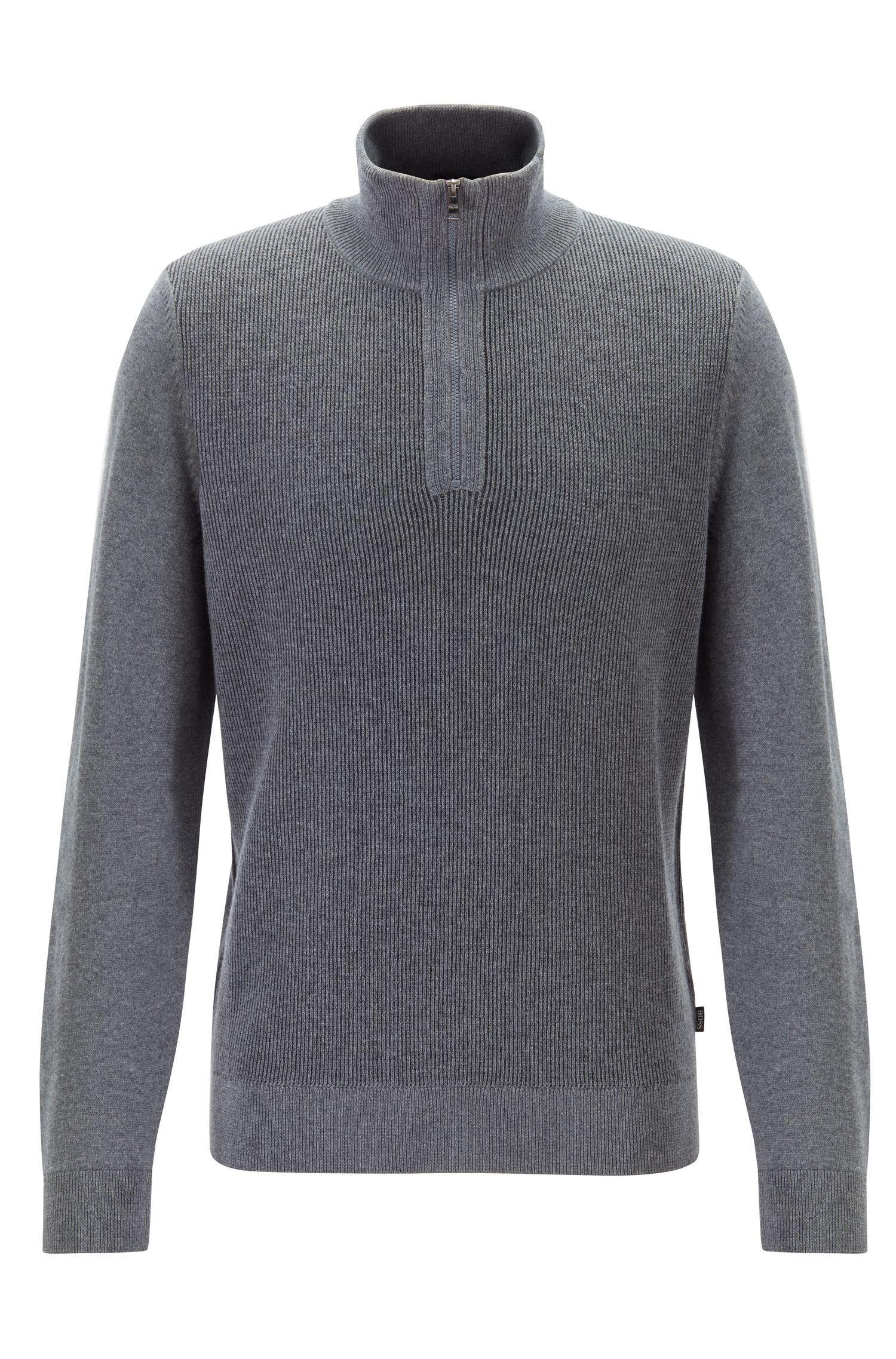 Hugo Boss Mens Bizzino 1//4 Zip Sweater