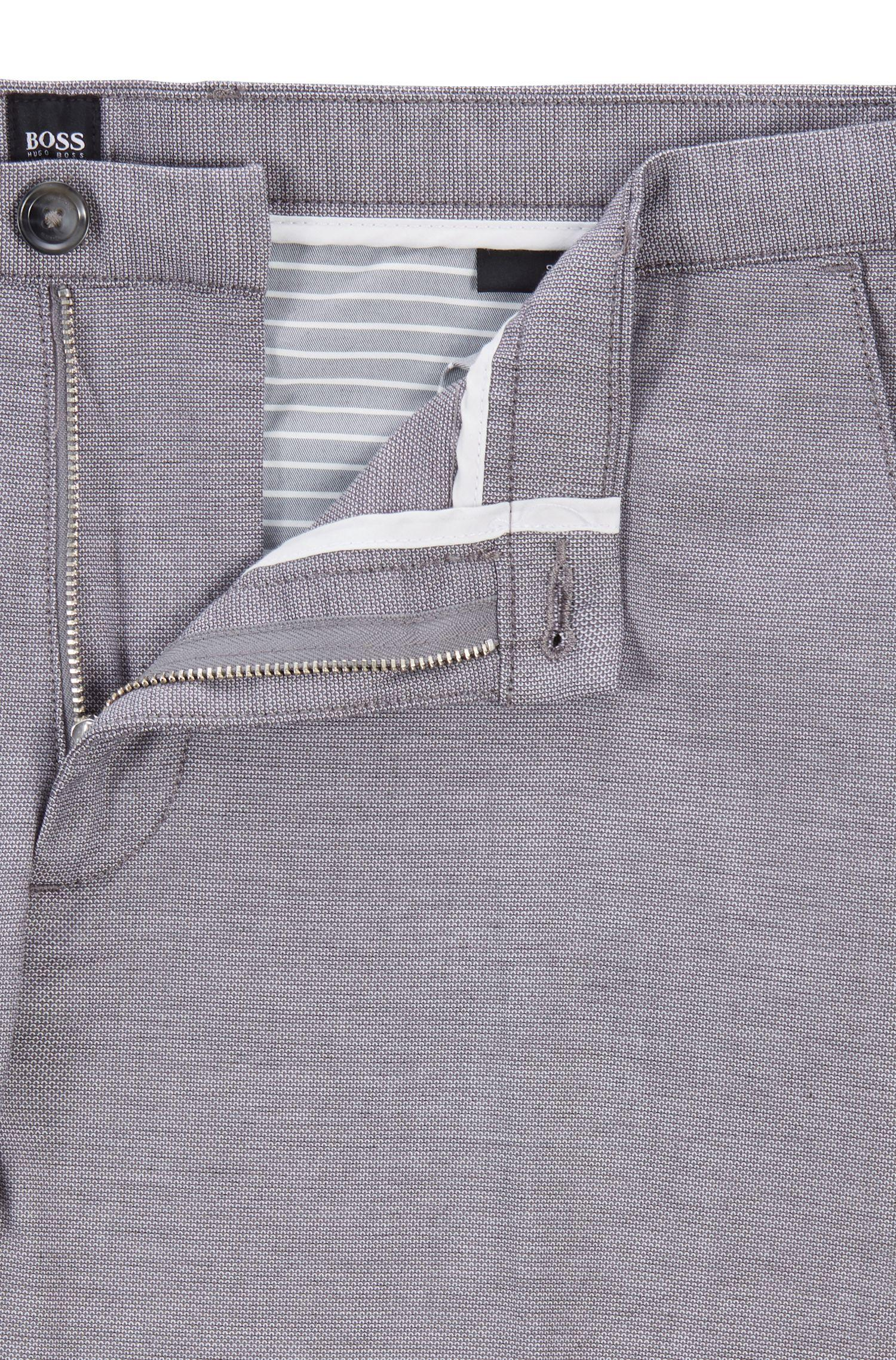 edff7e7909 BOSS Slim-fit Chinos In Micro-patterned Stretch Cotton in Gray for ...