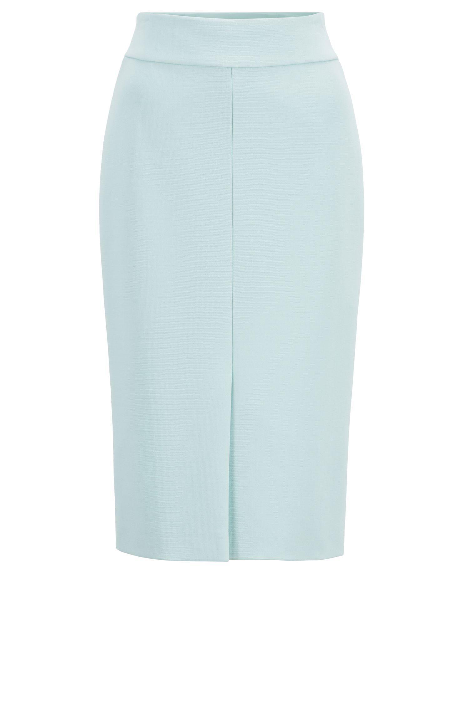 d8f3f77dfd BOSS Italian-jersey Pencil Skirt With Front Split in Blue - Lyst