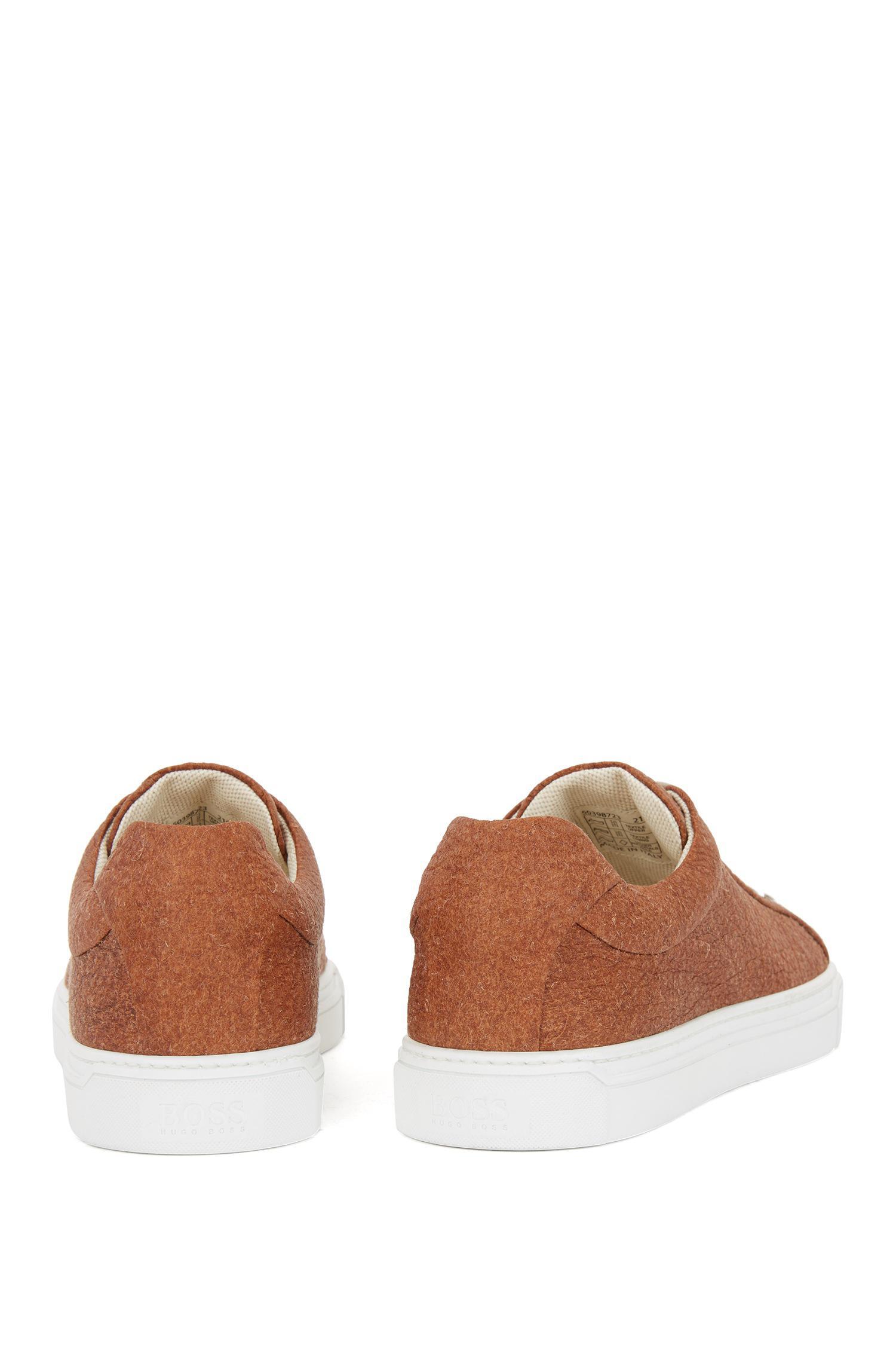 eea2b66b1c7 BOSS - Brown Limited-edition 100% Vegan Sneakers In Piñatex® for Men -.  View fullscreen