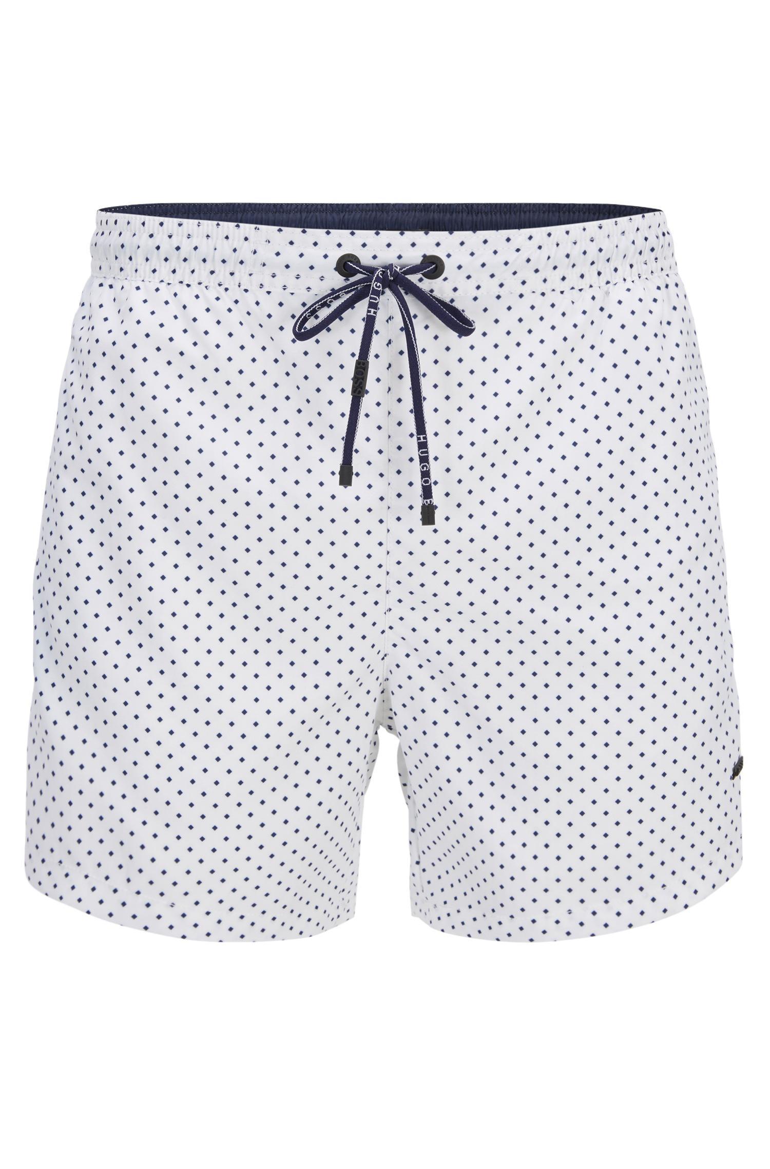 a0f6b5041e526 Boss Micro-pattern Swim Shorts In Quick-drying Technical Fabric in ...