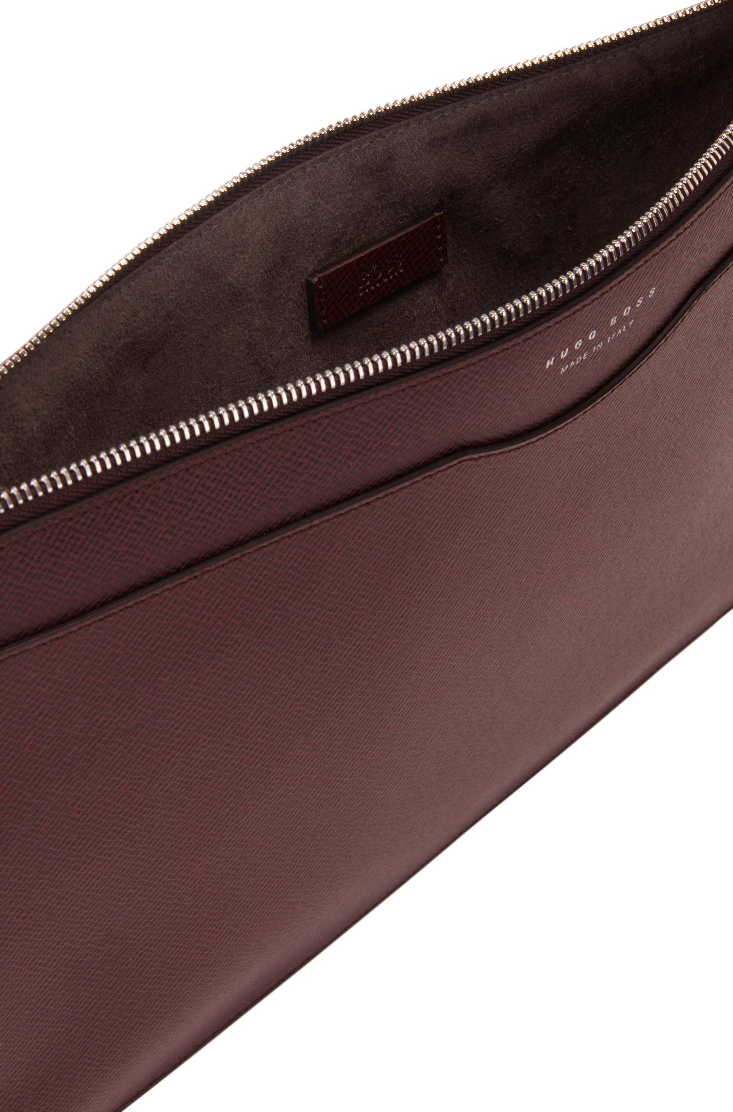 f8d223f974 BOSS Signature Collection Document Case In Palmellato Leather in Red ...