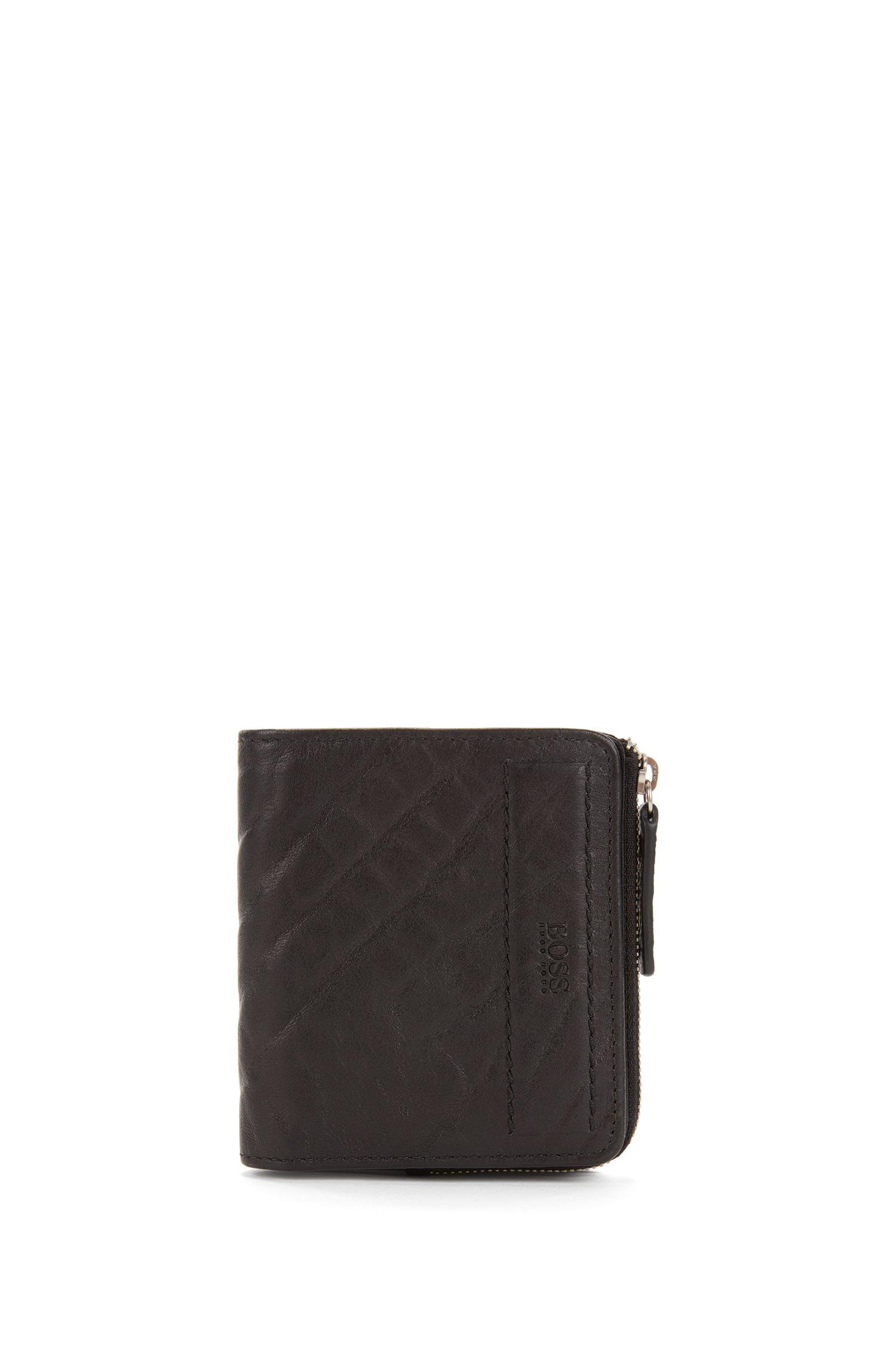 d21d914f0c BOSS Orange Small Zip-around Wallet In Grained Leather in Black for ...