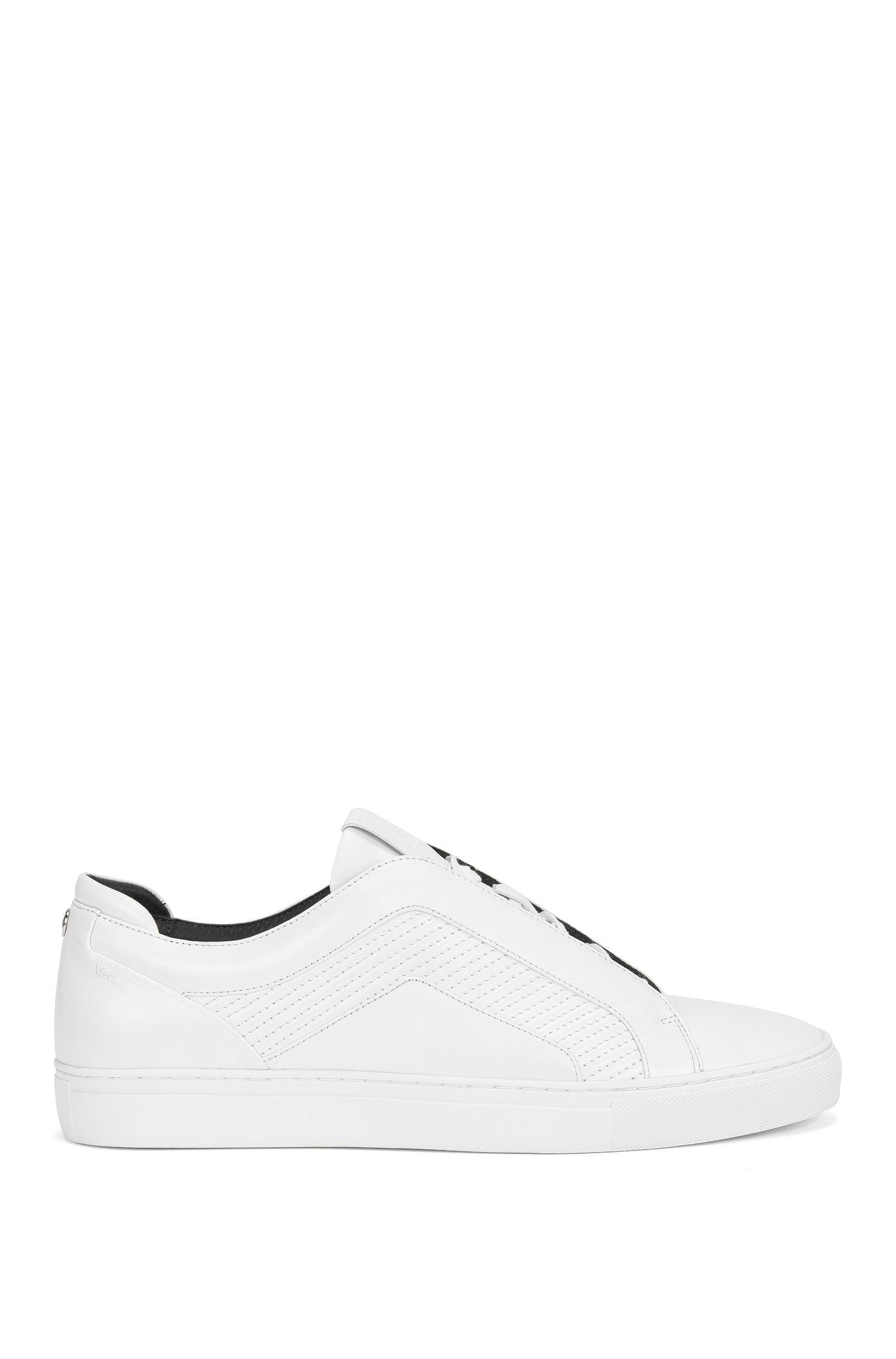 6298db85026 BOSS Mercedes-benz Leather Sneaker   Timeless Tenn Mtmb in White for ...