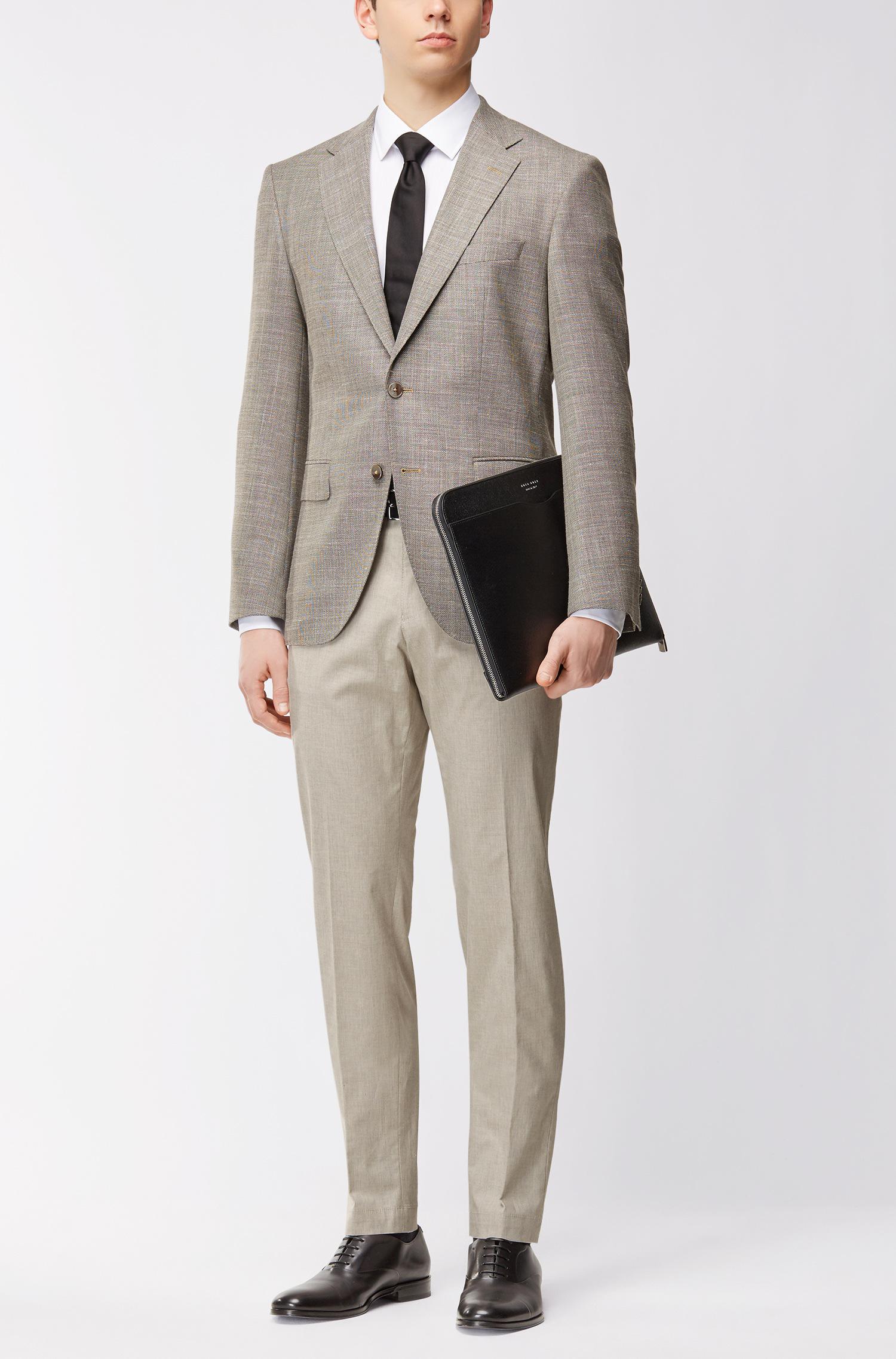 6a46cf26 Lyst - Boss Heathered Stretch Cotton Dress Pant, Slim Fit | Gaetano ...