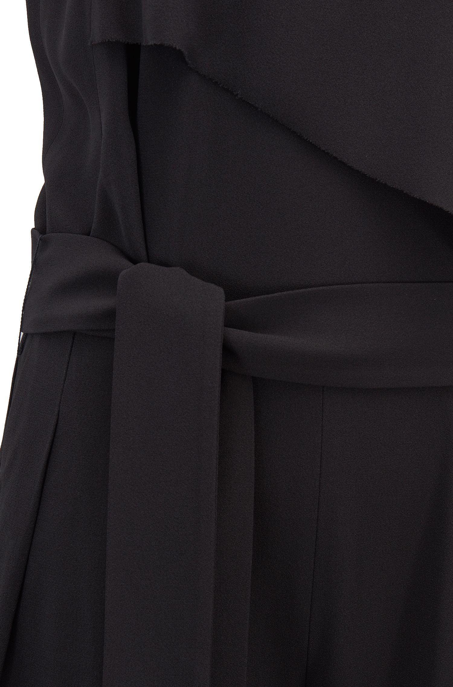 72f20b0f2dc BOSS - Black Tuxedo-style Jumpsuit In Satinback Crepe - Lyst. View  fullscreen