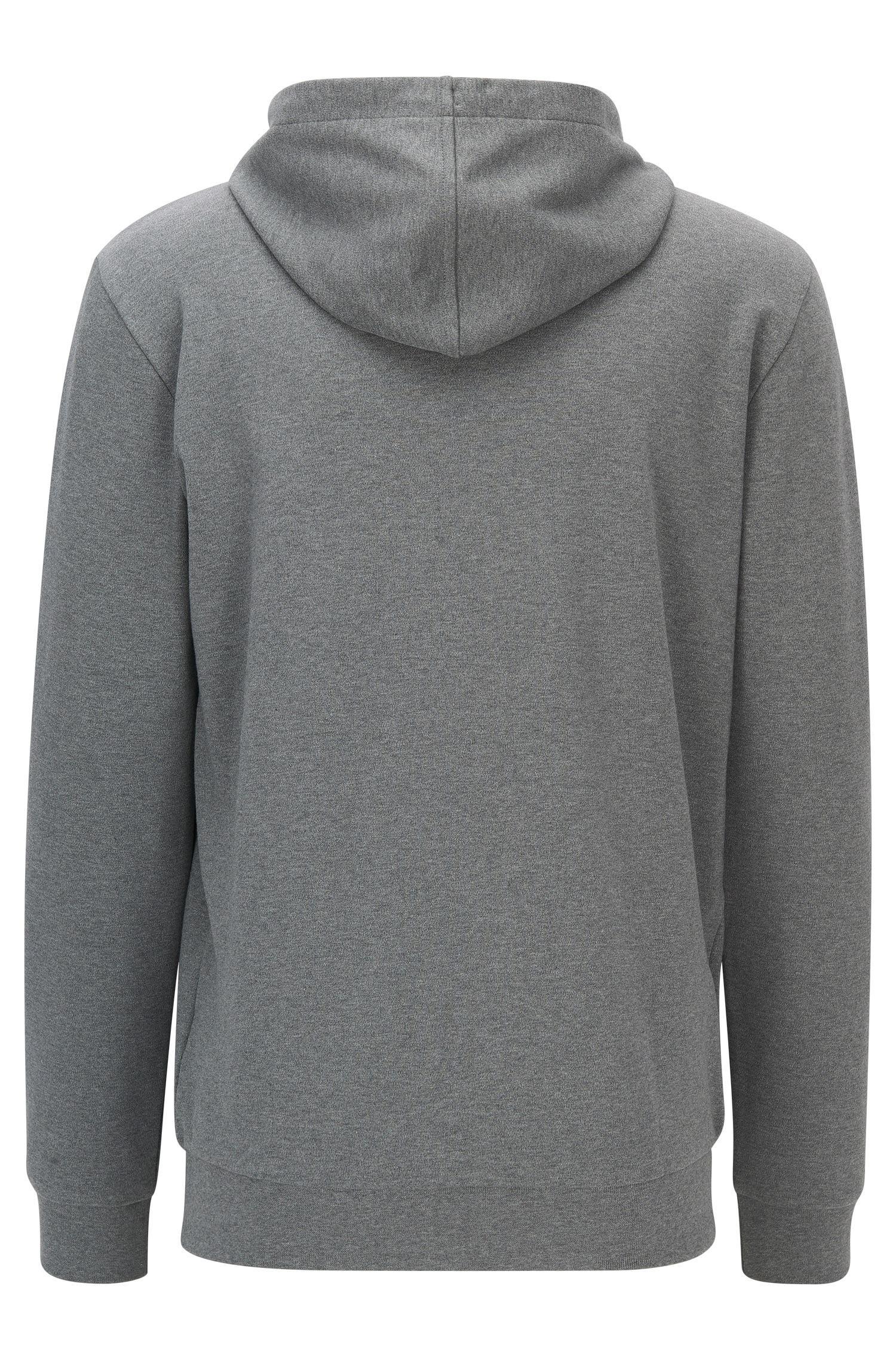 0522b5527 Lyst - Hugo Cotton Full-zip Hooded Sweater | Dattis in Gray for Men