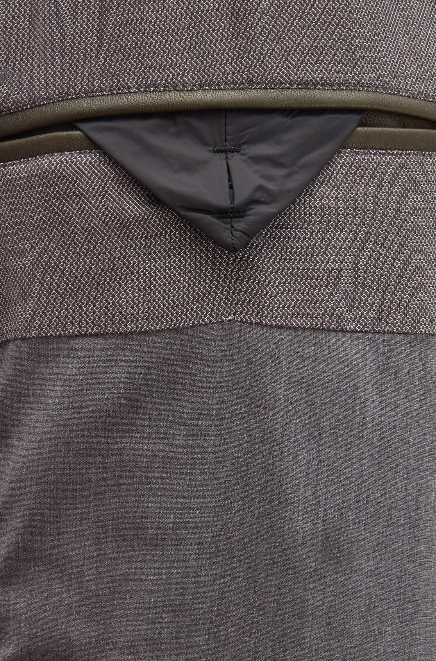 Boss Slim Fit Biker Jacket In Lightly Waxed Leather In