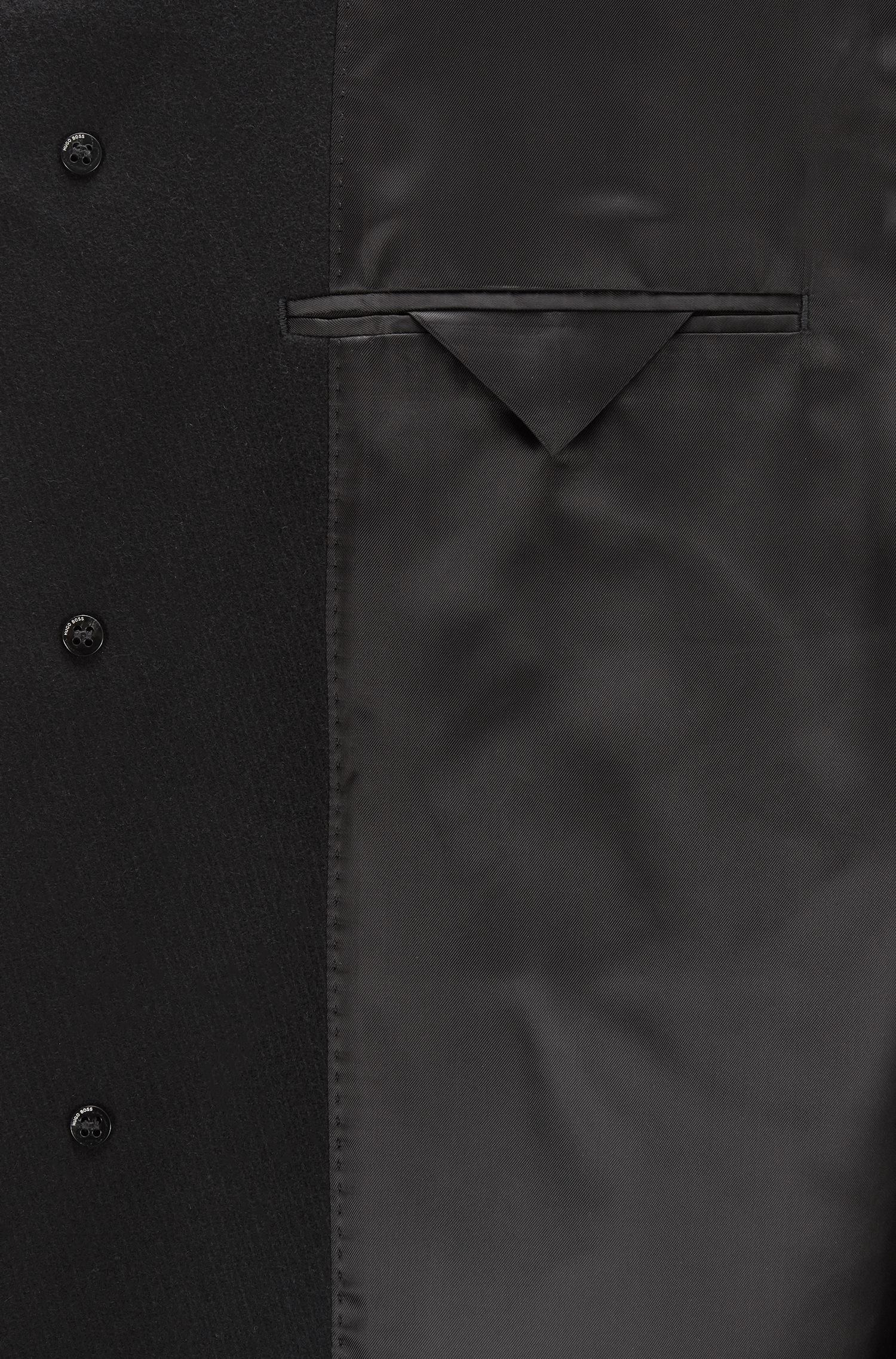 6236b225716 Lyst - BOSS Virgin Wool Blend Topcoat