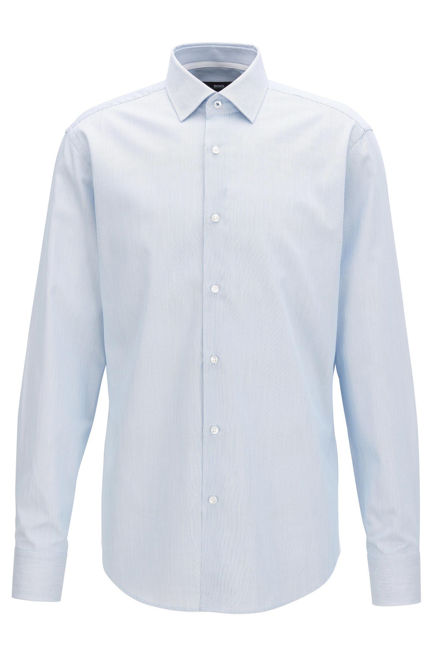 d60b5931 Lyst - BOSS Striped Cotton Dress Shirt, Regular Fit | Gelson in Blue ...