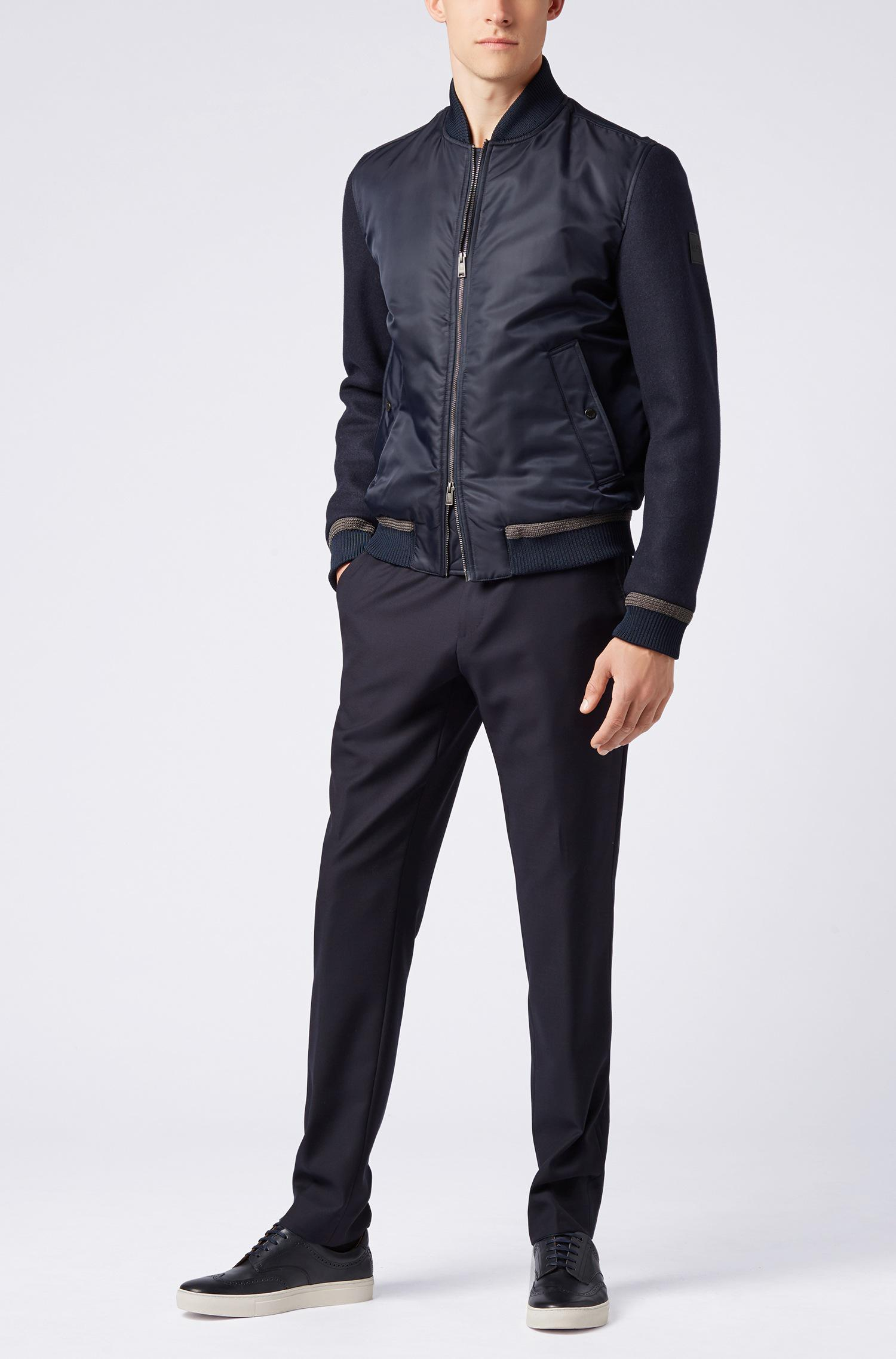hugo boss quilted bomber jacket