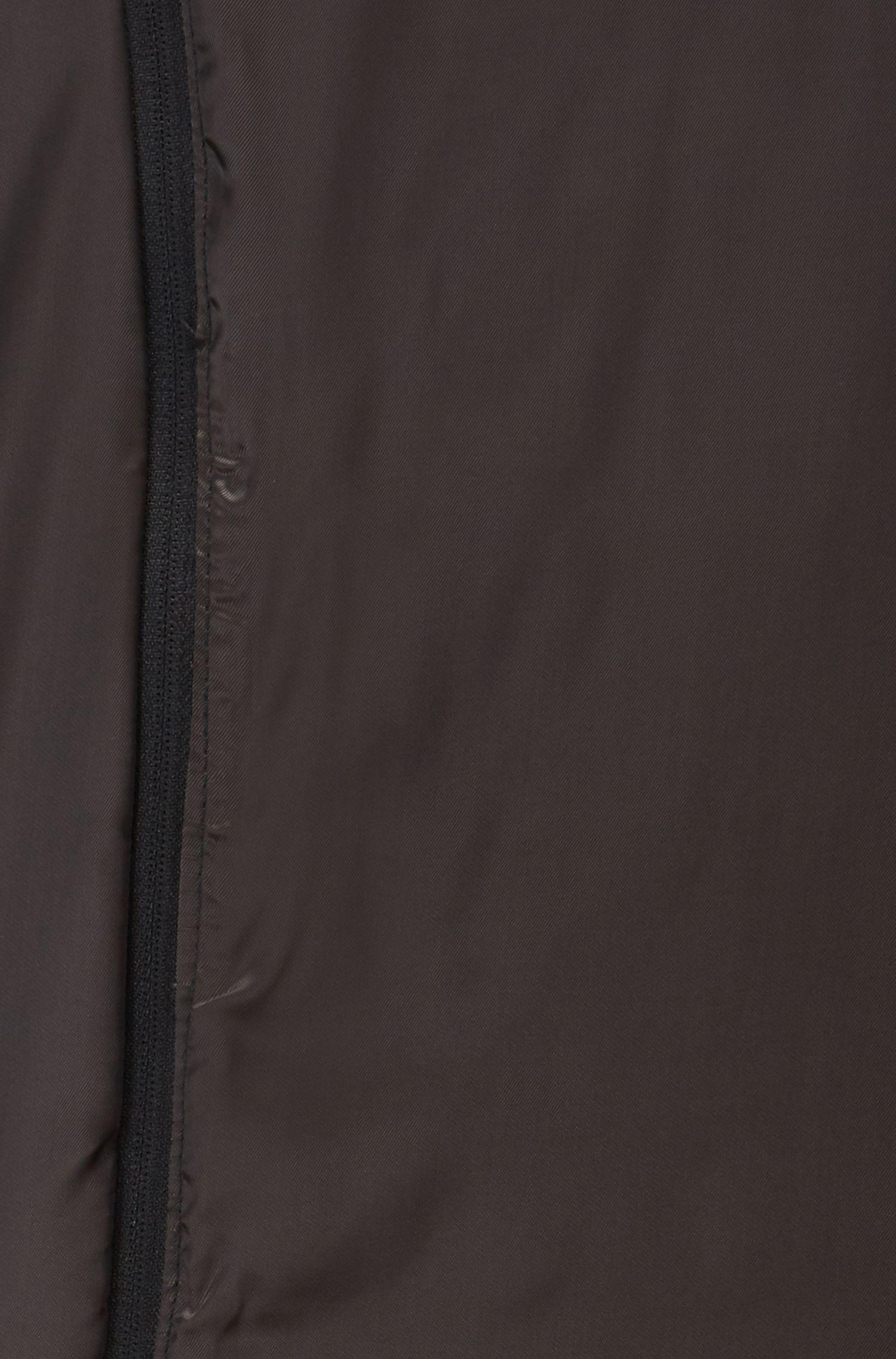 f83dd6cf4f Men's Gray Slim-fit Wool-blend Coat With Detachable Inner Bib