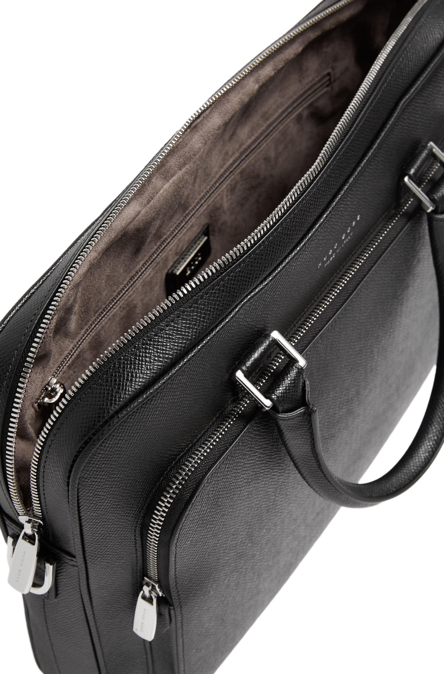 bbd444ff33 BOSS 'signature Slim Doc' | Palmellato Leather Bag in Black for Men ...