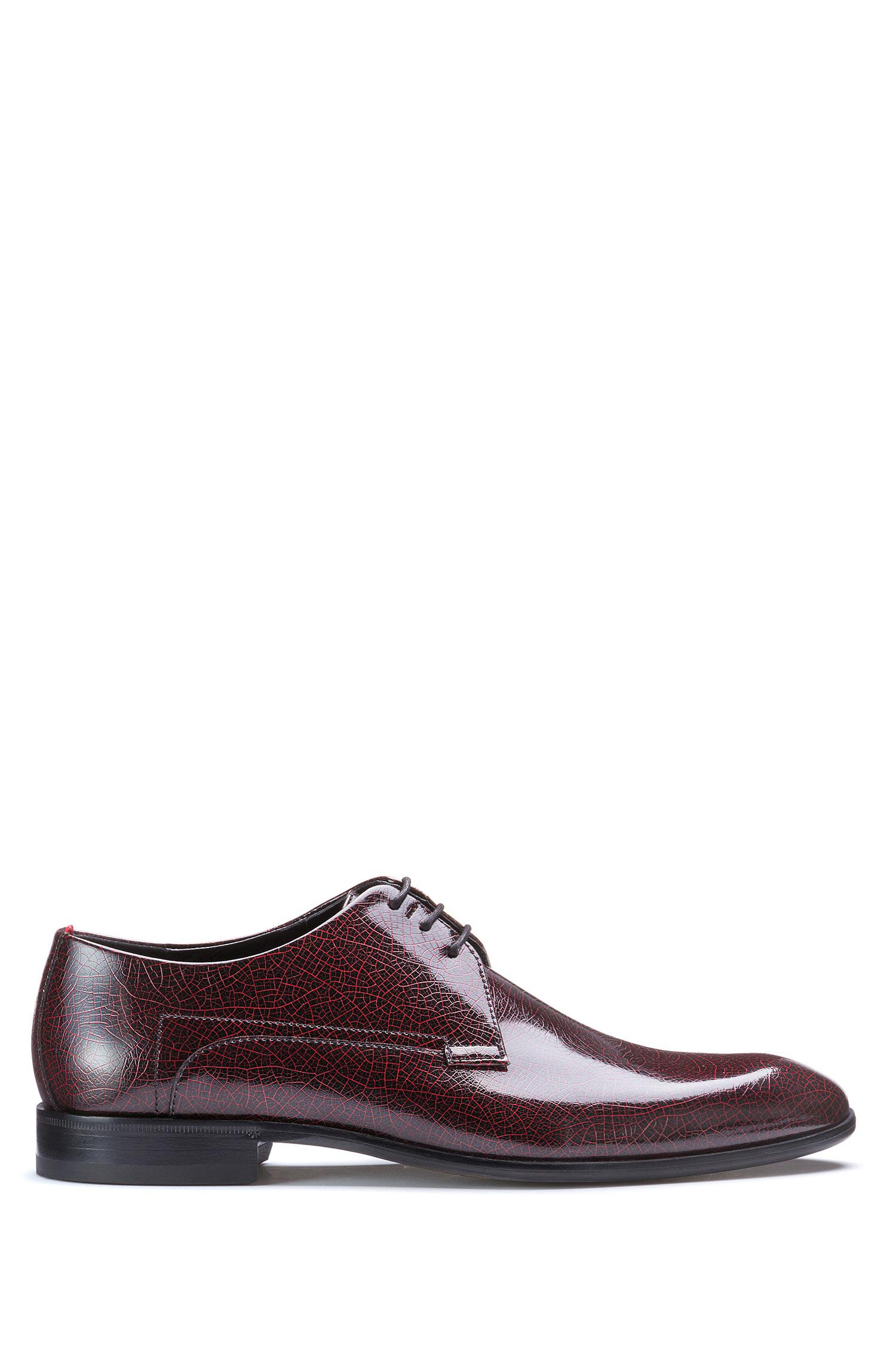 Hugo Patent Calf-leather Derby Shoes in Red for Men