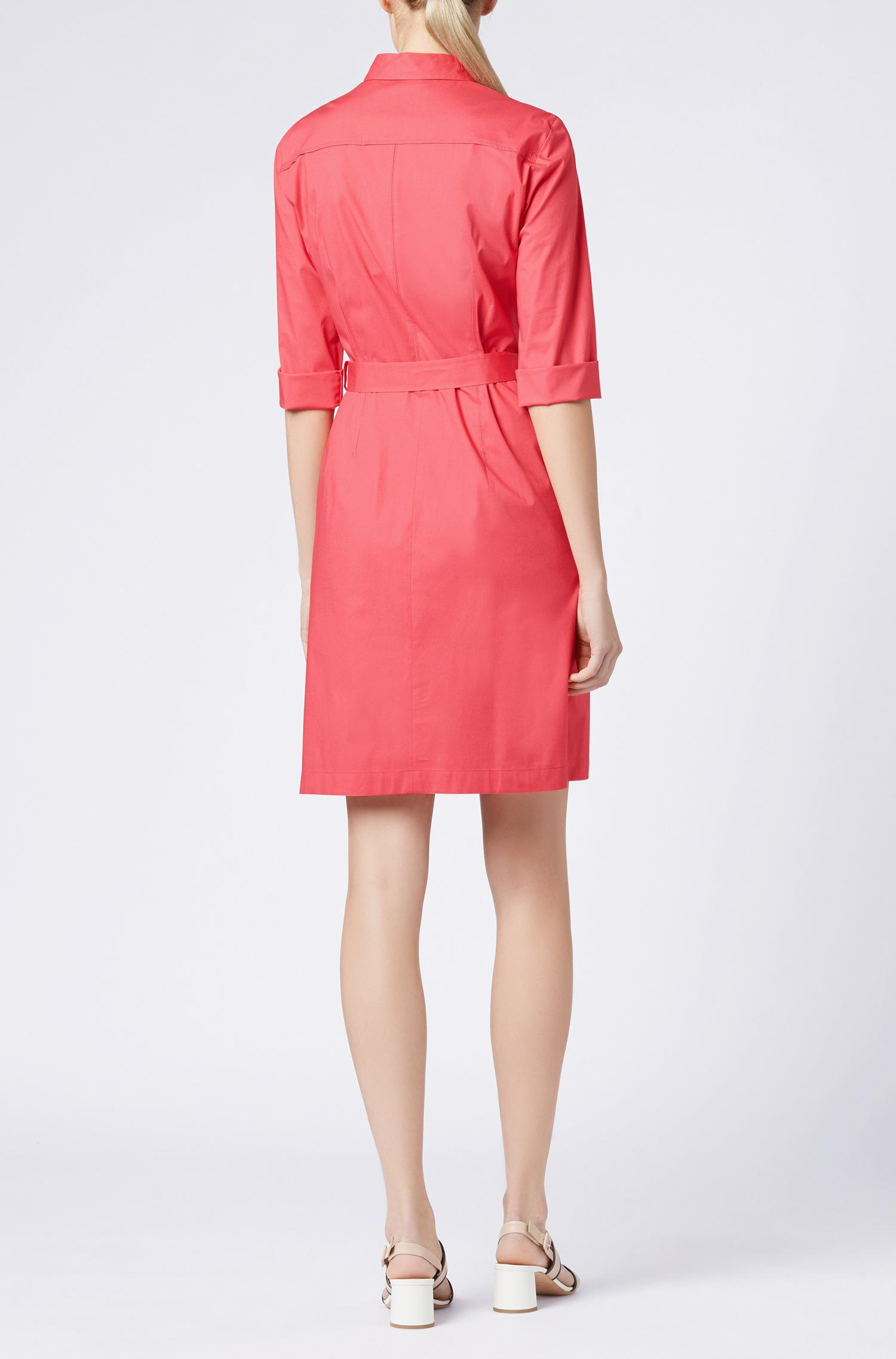 0dd51aff5 BOSS Stretch Cotton Belted Shirtdress | Dashiri in Pink - Lyst