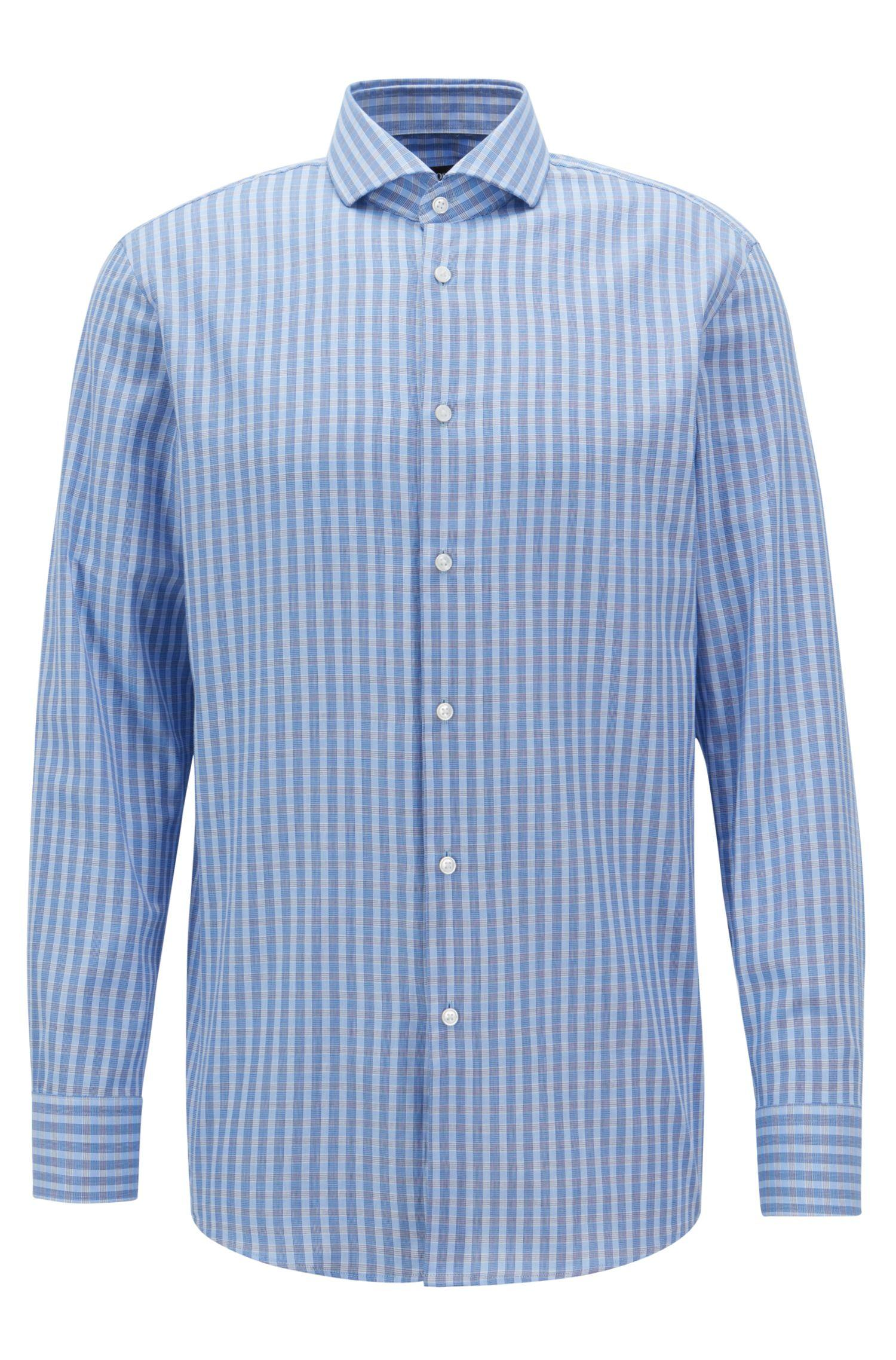 c8ed446b Lyst - BOSS Sharp-fit Shirt In Cotton Twill With Vichy Check Pattern ...