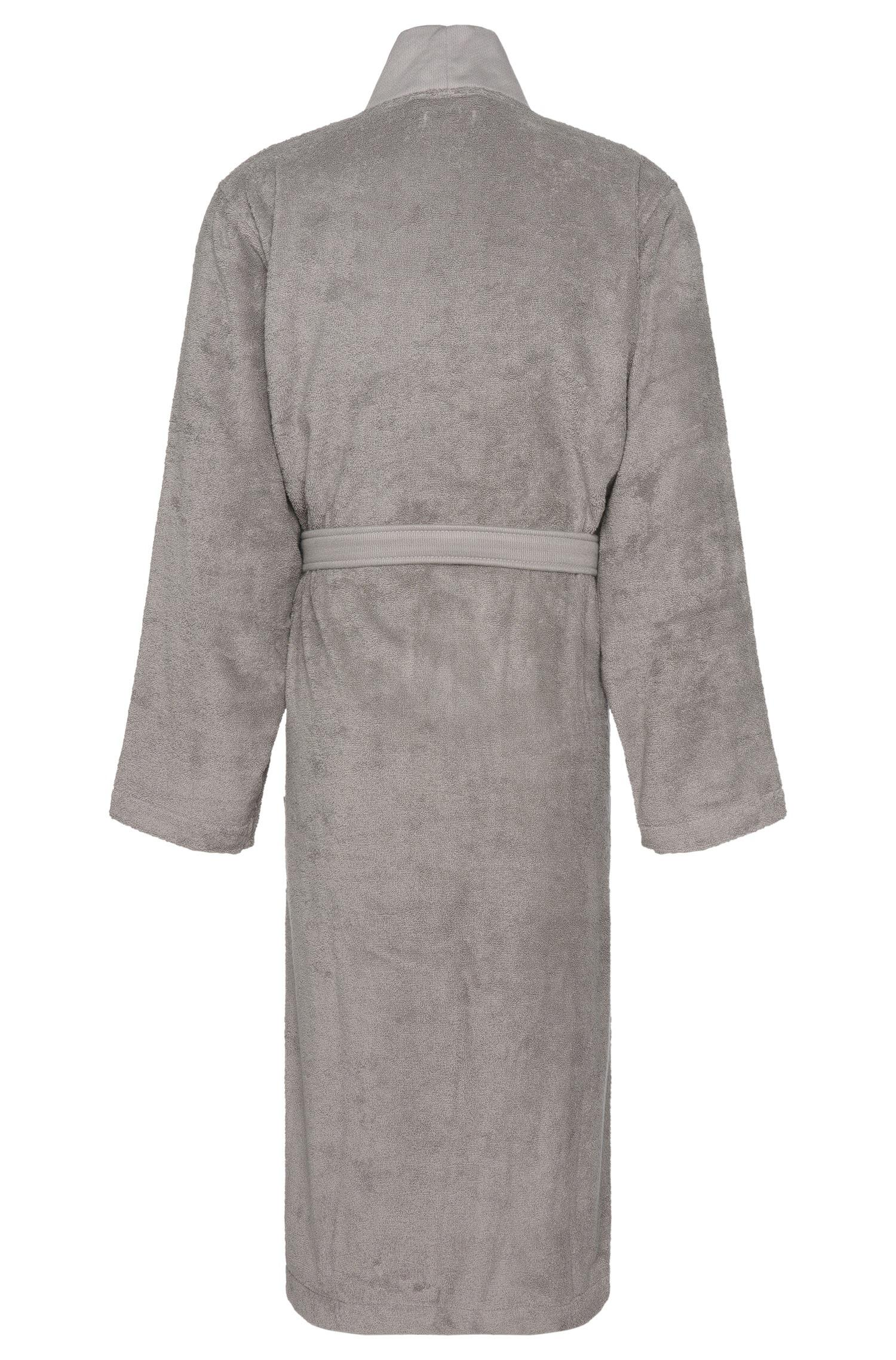 Lyst - Boss Hooded Dressing Gown In Egyptian Cotton in Gray for Men