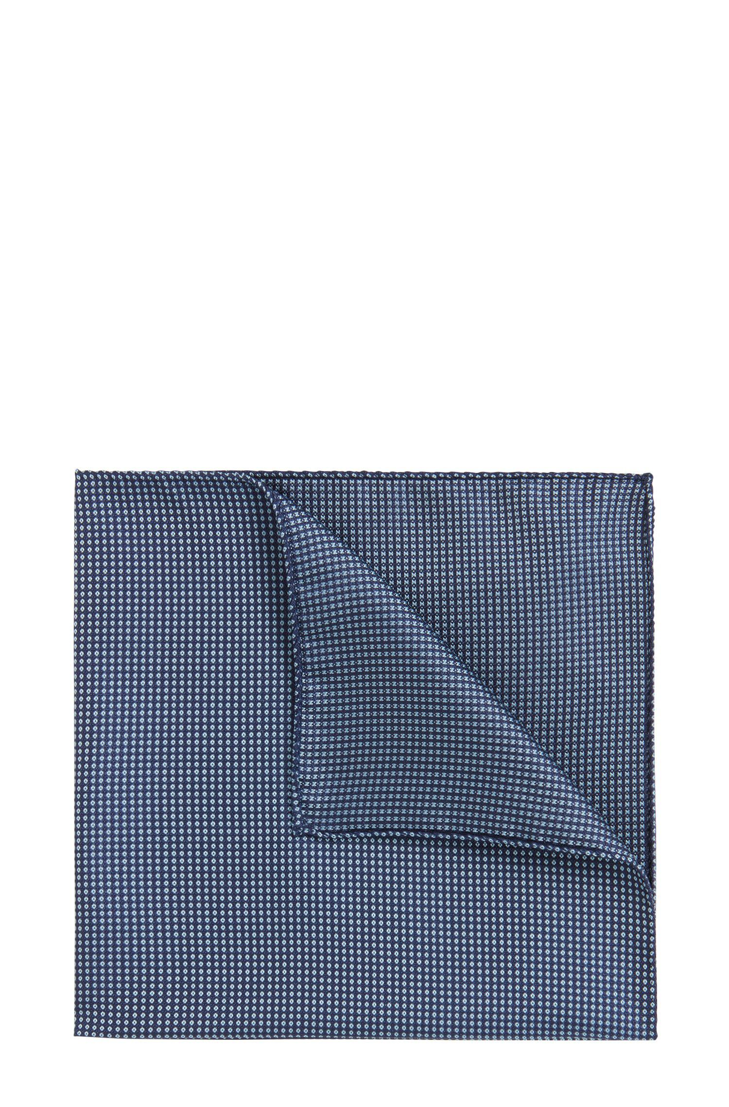 Italian-made patterned pocket square in silk jacquard BOSS 82sIF0j