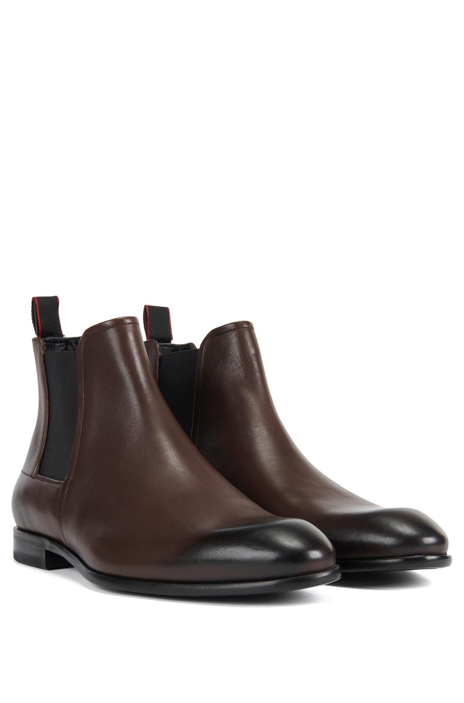 Formal Chelsea boots in rich leather HUGO BOSS KsP5b