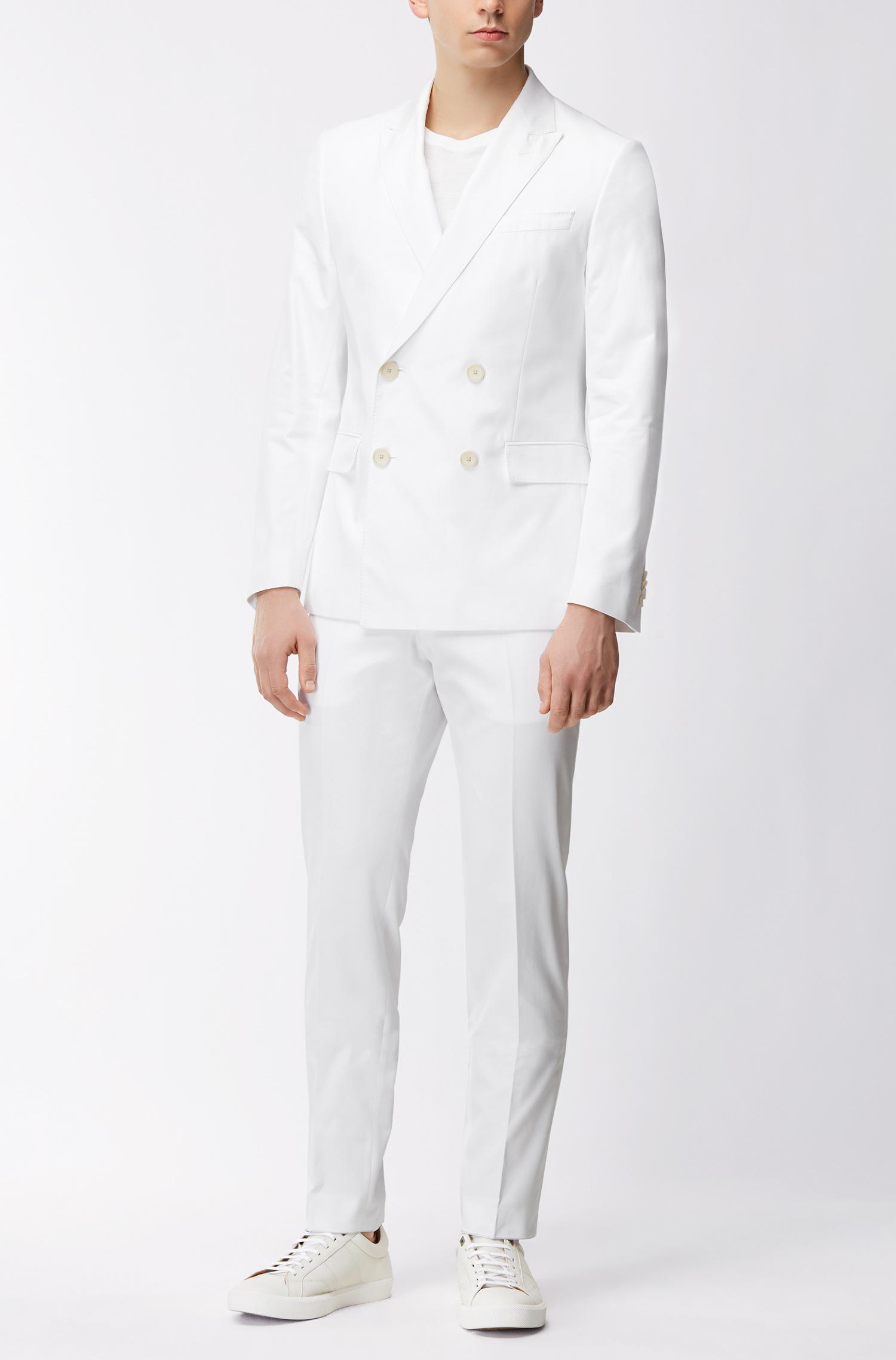 76dbb6c85 BOSS Italian Cotton Double-breasted Suit, Slim Fit | Nami/ben in ...