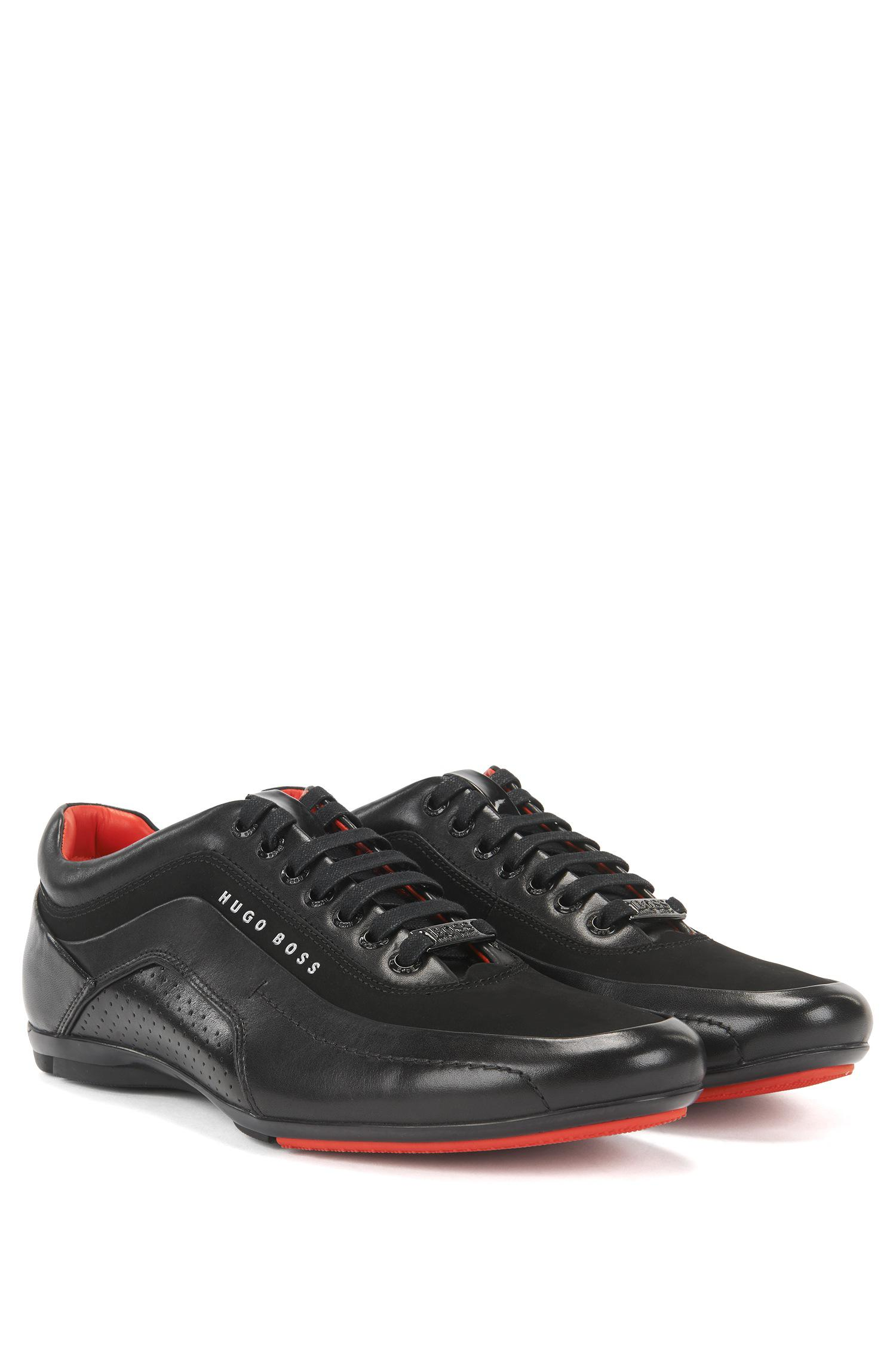 abba7c23c6d BOSS Trainers In Leather And Carbon Fibre in Black for Men - Lyst
