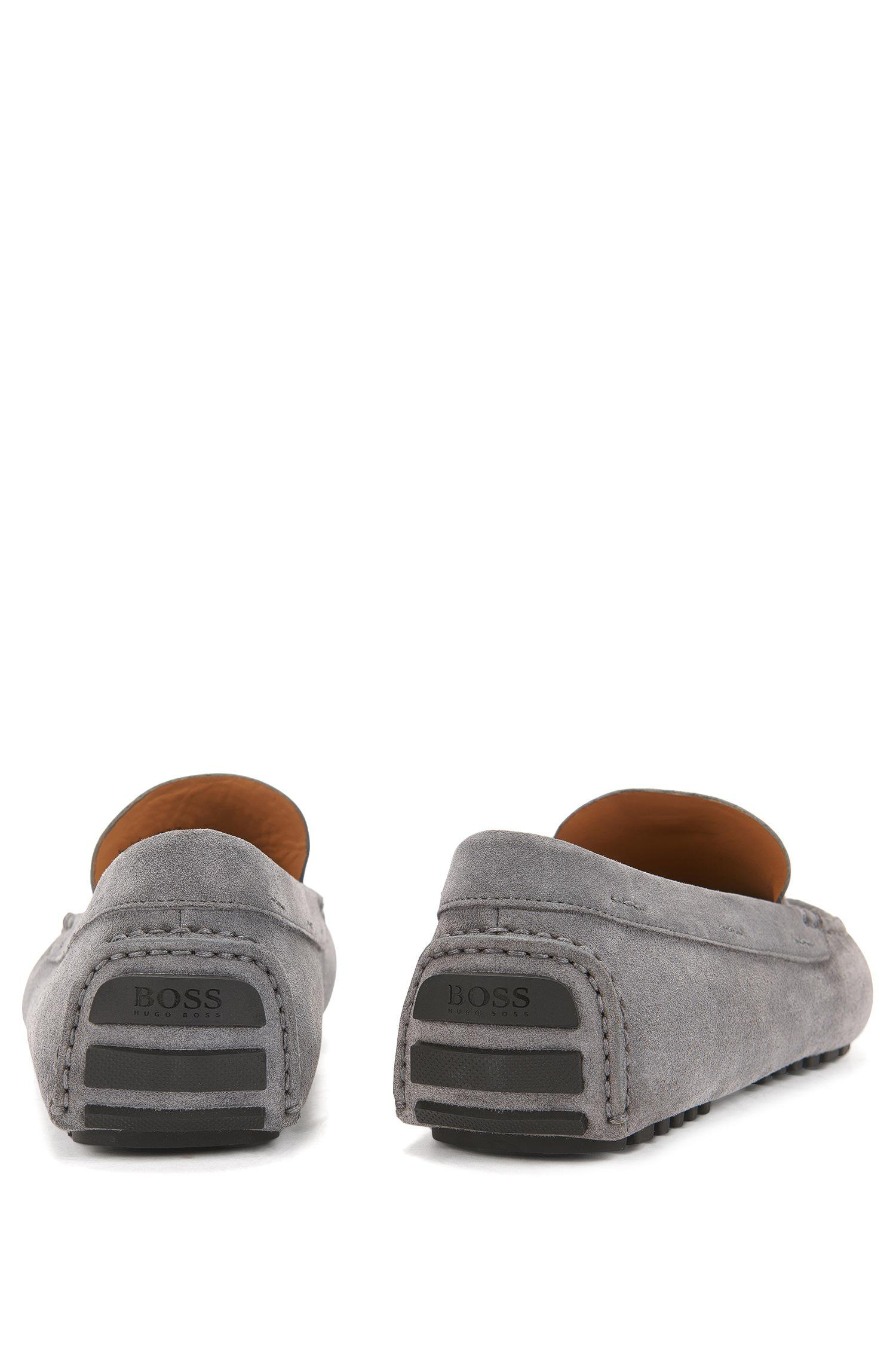 hugo boss suede driving shoes cheap online