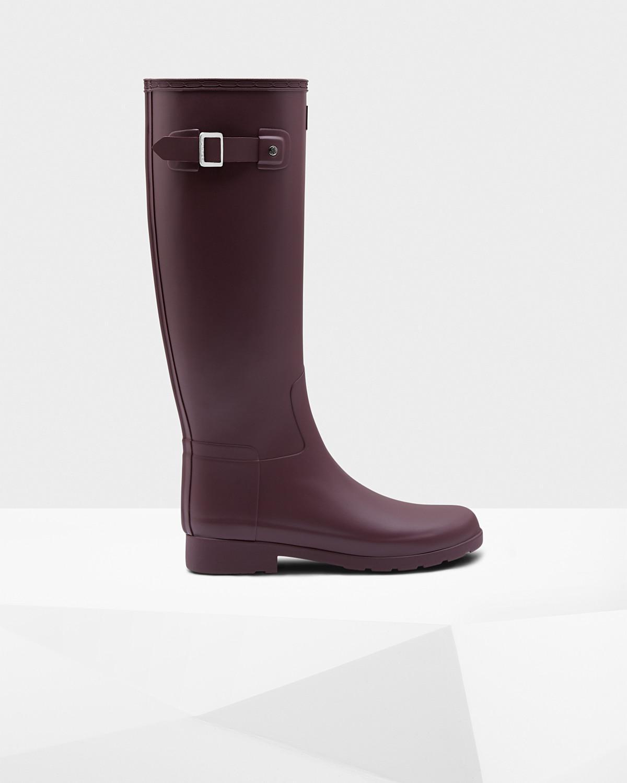 172f9db7ee8 Hunter Purple Refined Slim Fit Wellington Boots