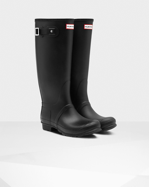 d6f66d739702f2 Lyst - Hunter Original Tall Wide Leg Rain Boot in Black for Men