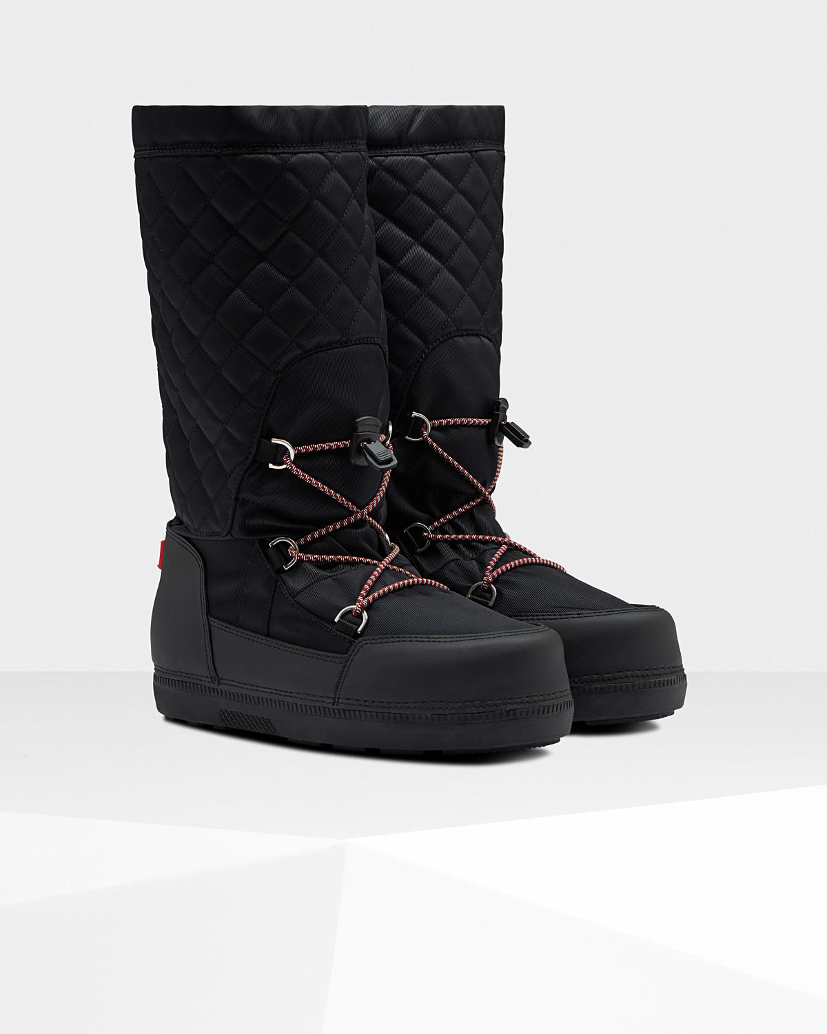 2533f78f1c09 Lyst - HUNTER Original Quilted Snow Boots in Black
