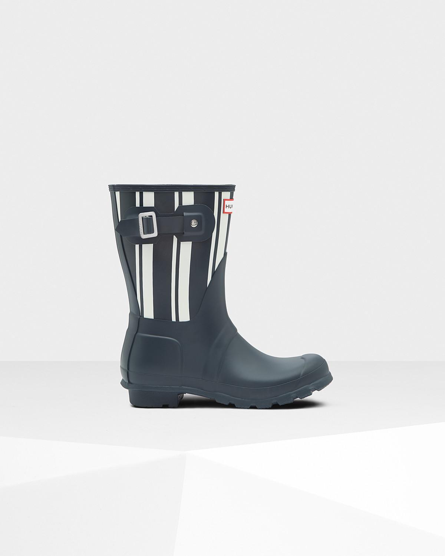 Hunter Women's Original Garden Stripe Short Boot