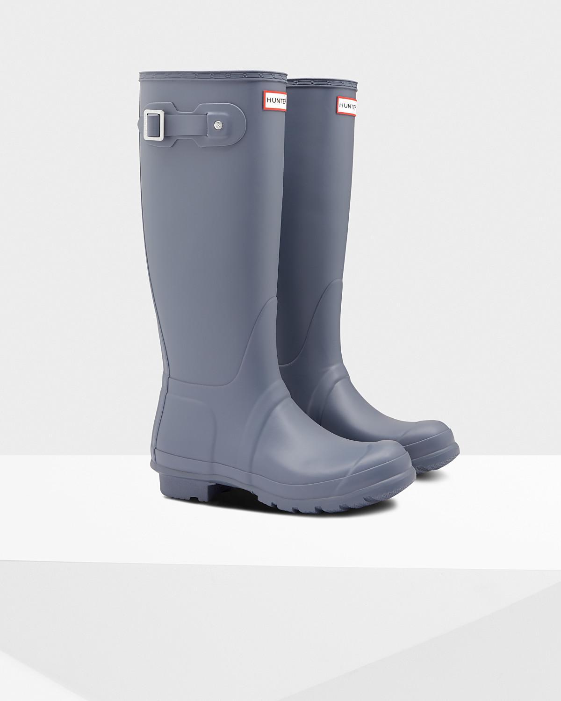 5648606095c Lyst - HUNTER Original Tall Wellington Boots in Gray